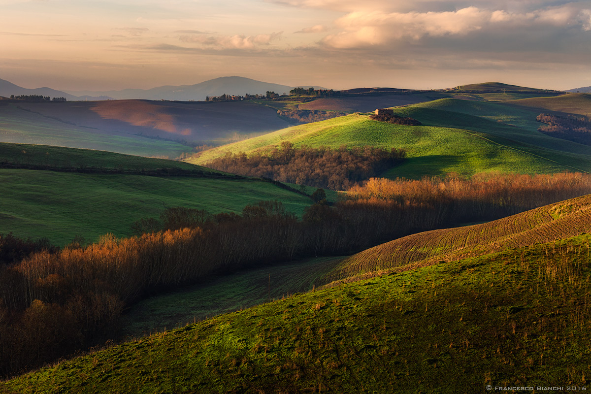 first colors on the hills of Volterra...