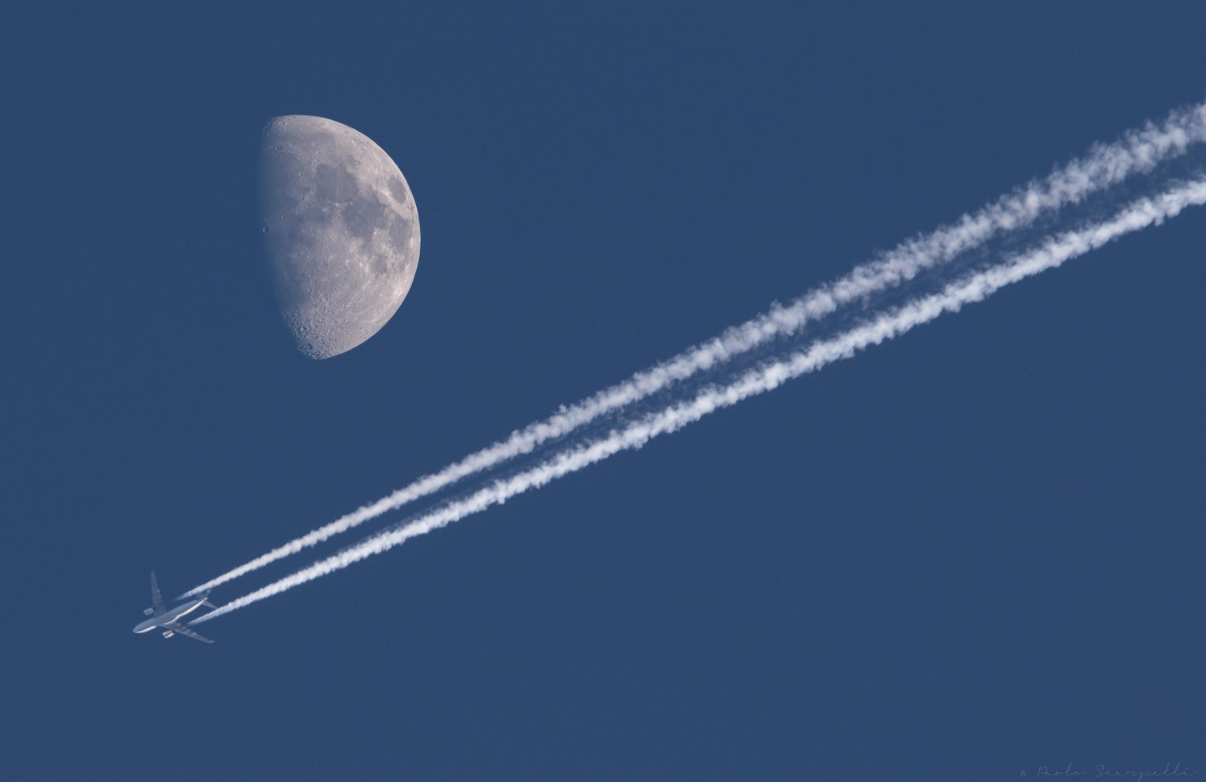 towards the moon...