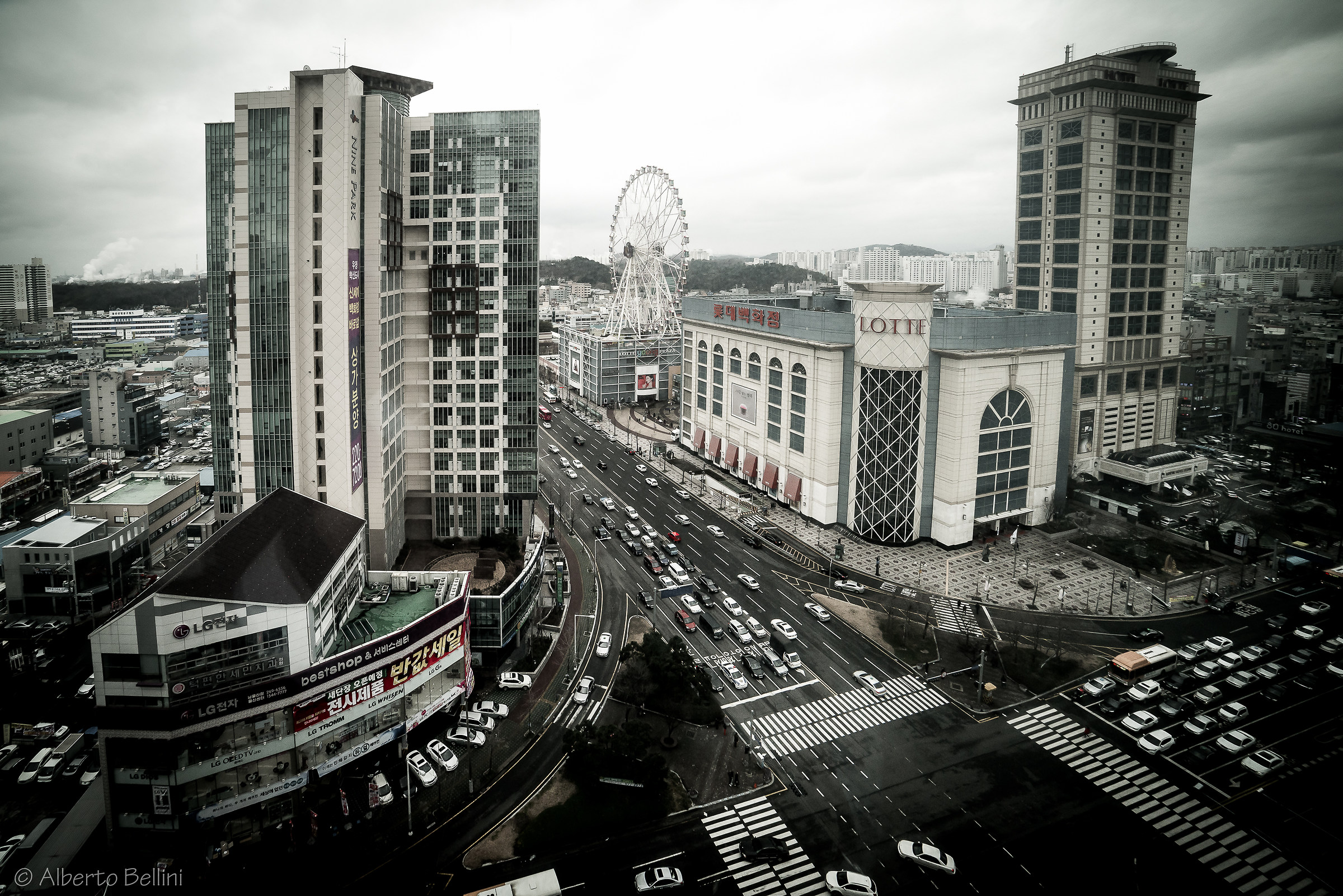 Ulsan - A Gray Day from the window of my home...