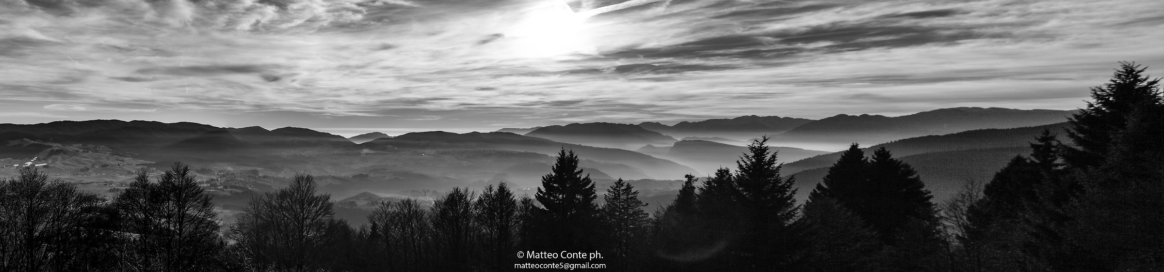Fog on the plateau. Asiago...