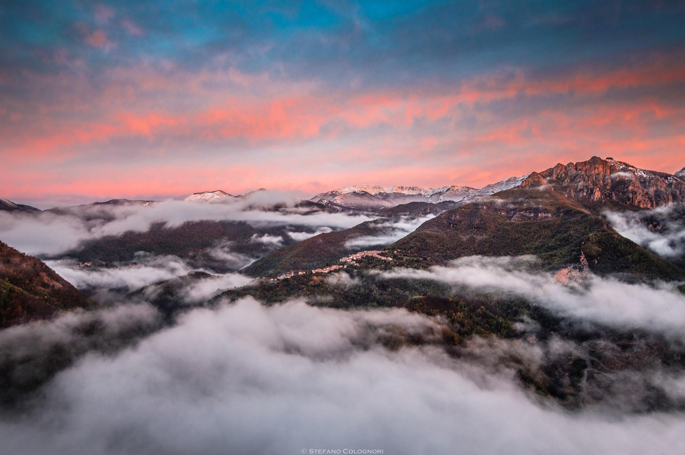 La Val di Lima all'alba...