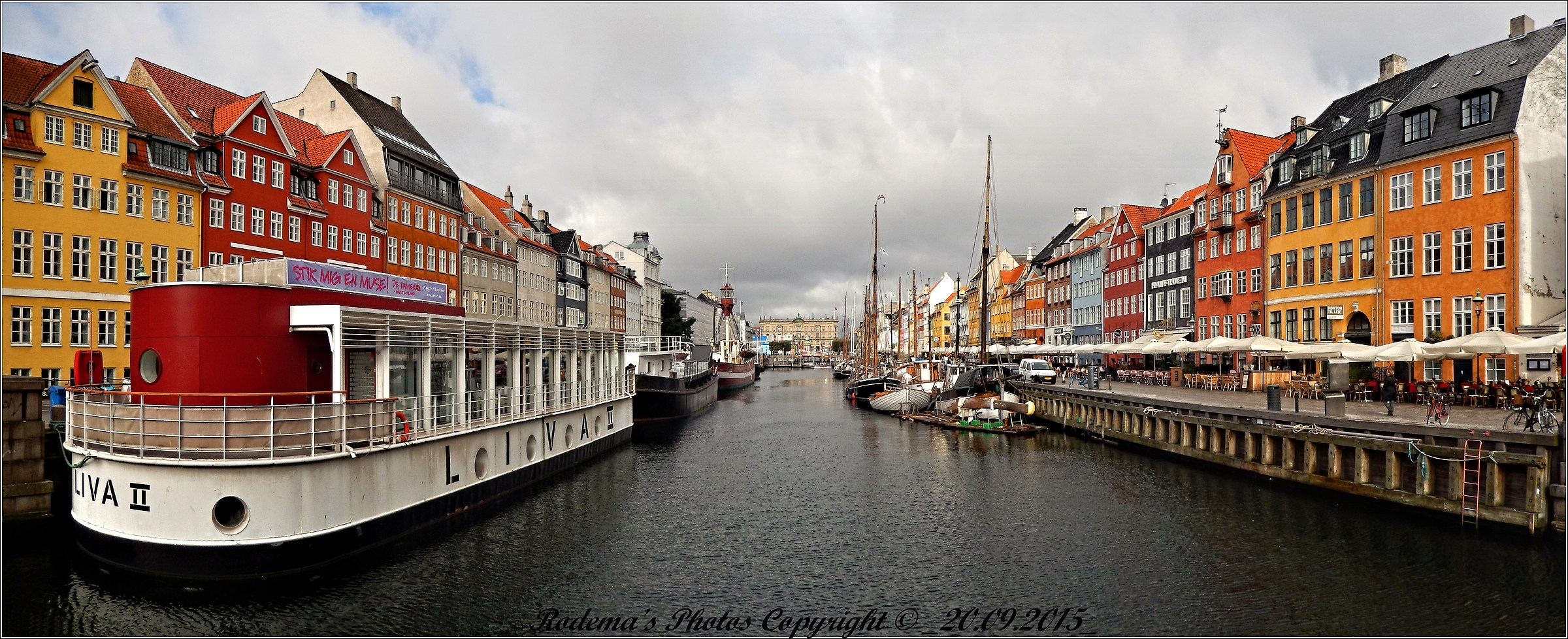 The Nyhavn Canal in Copenhagen...