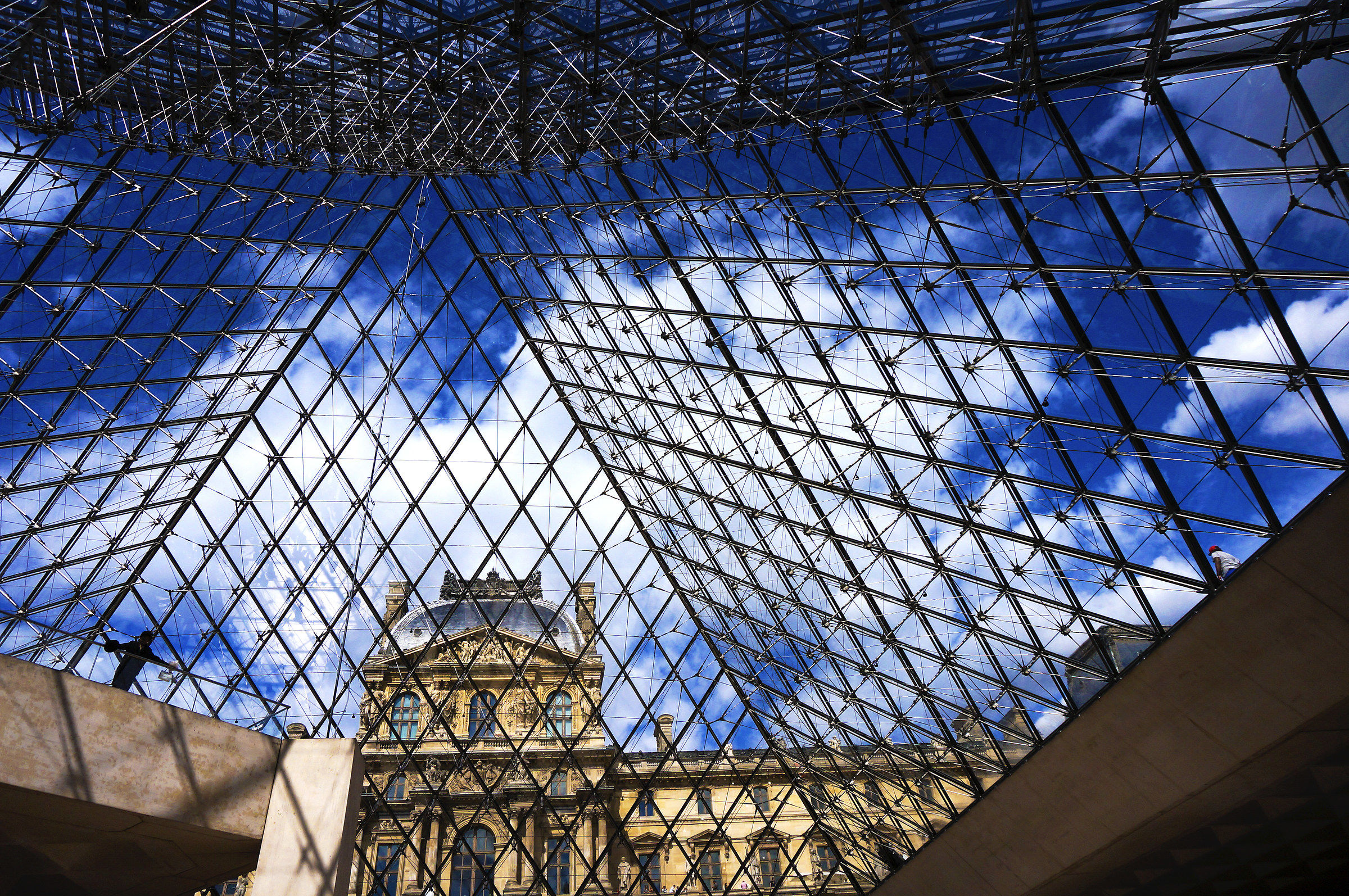 From the pyramid of the Louvre...