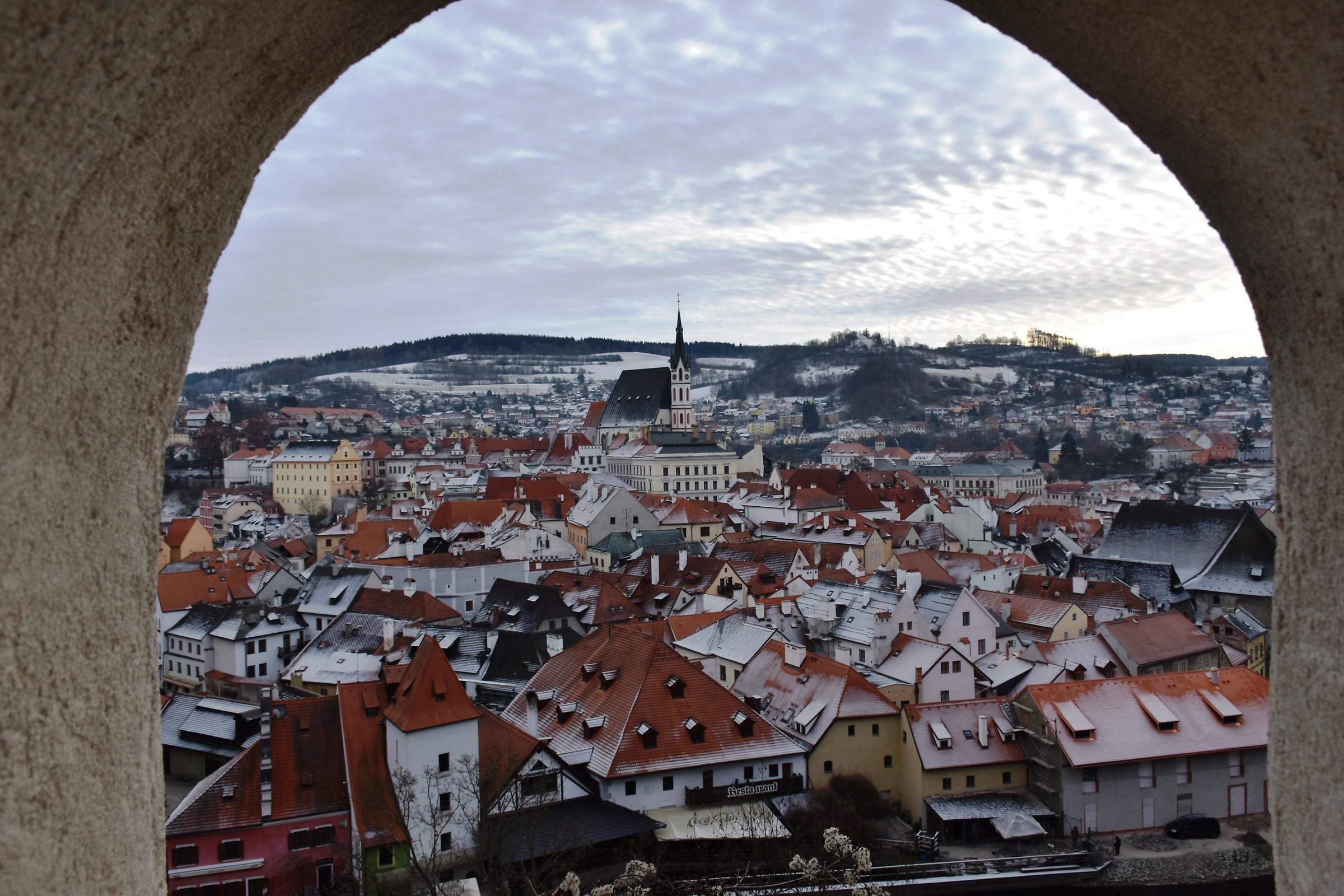 Look from castle window...