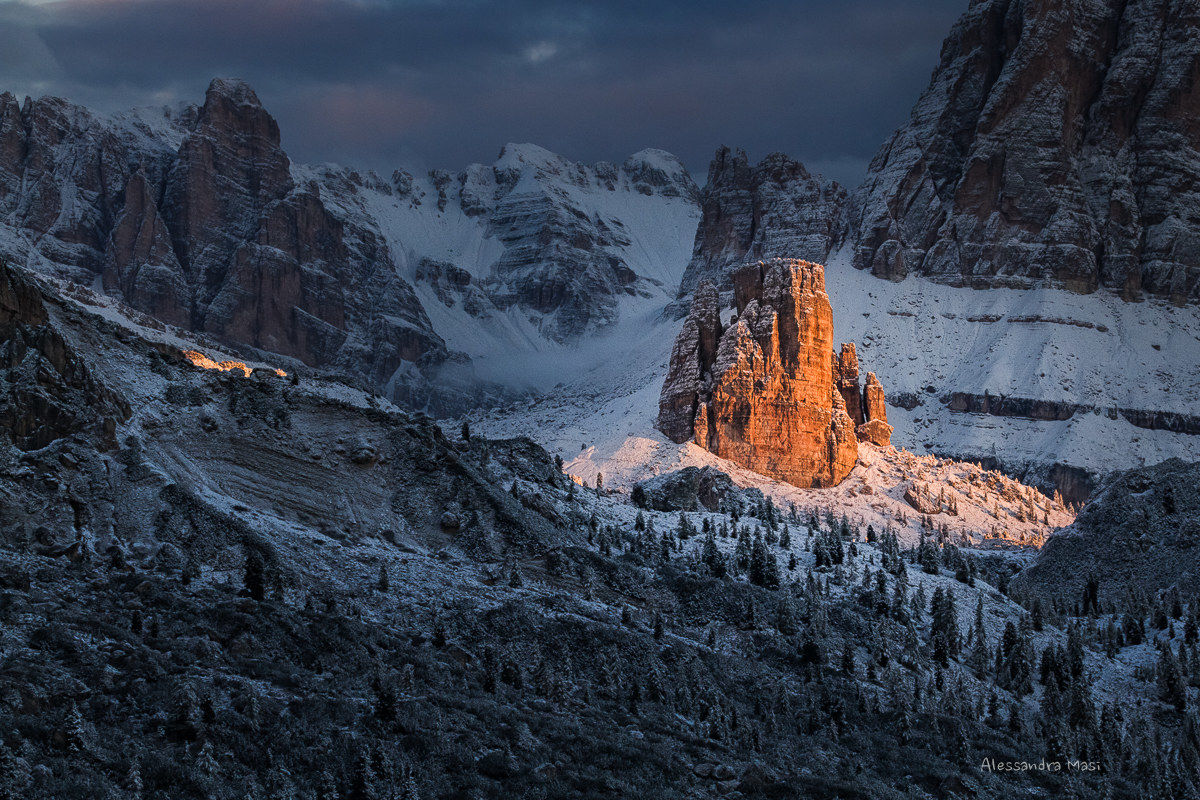 Spot light on the Cinque Torri...
