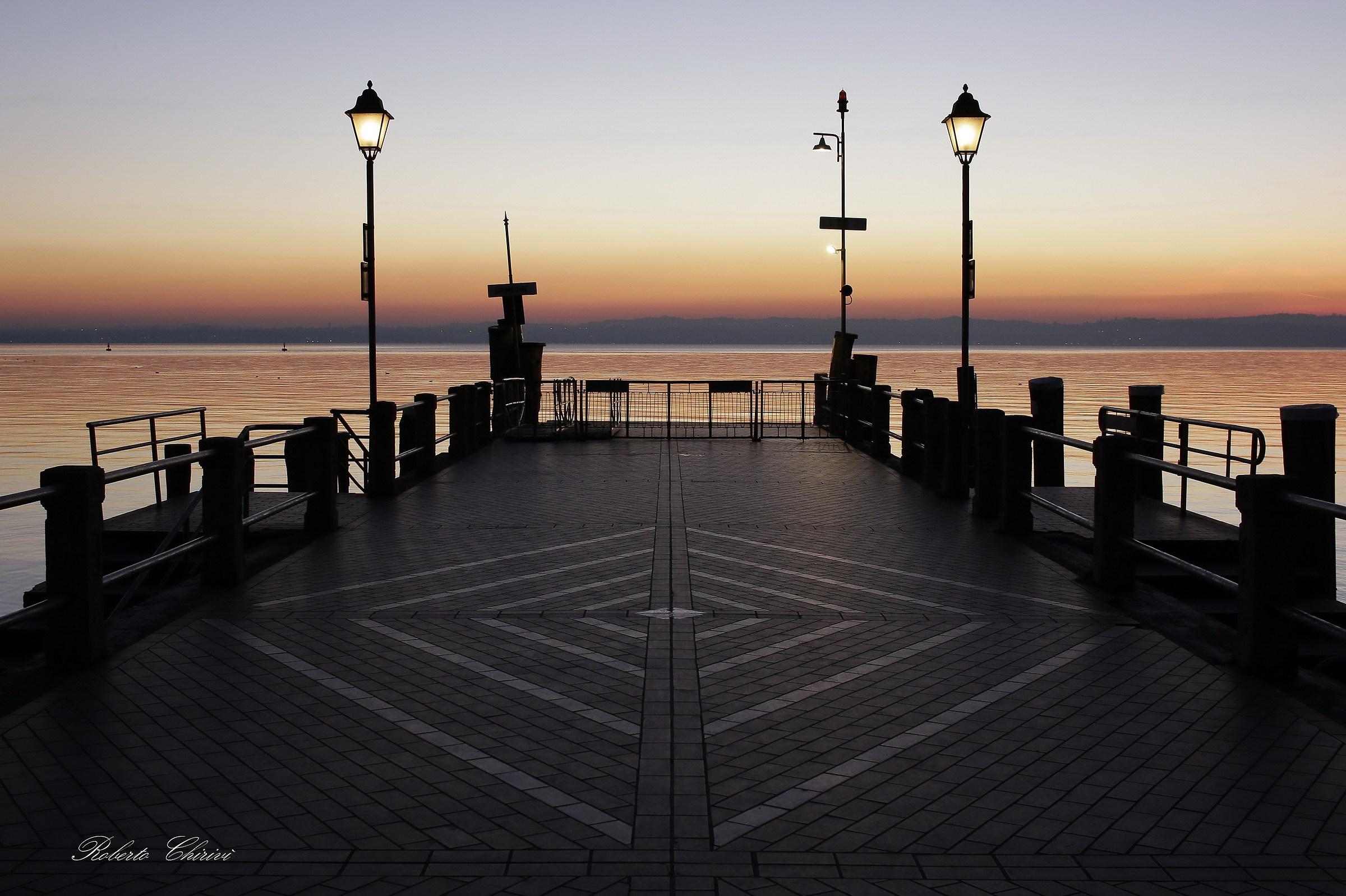 The lights of the sunset on Lake Garda...