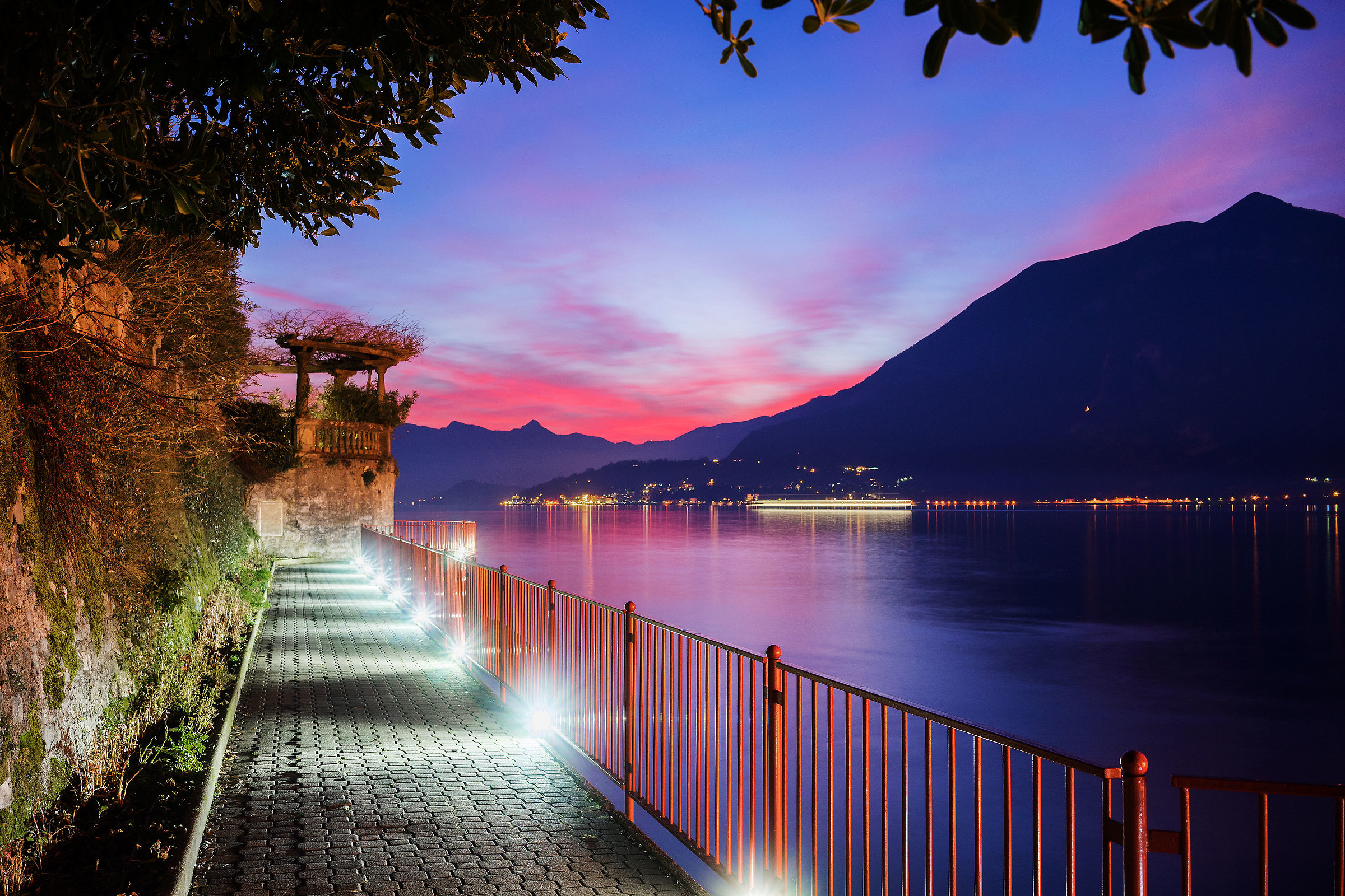 Sunset varenna...