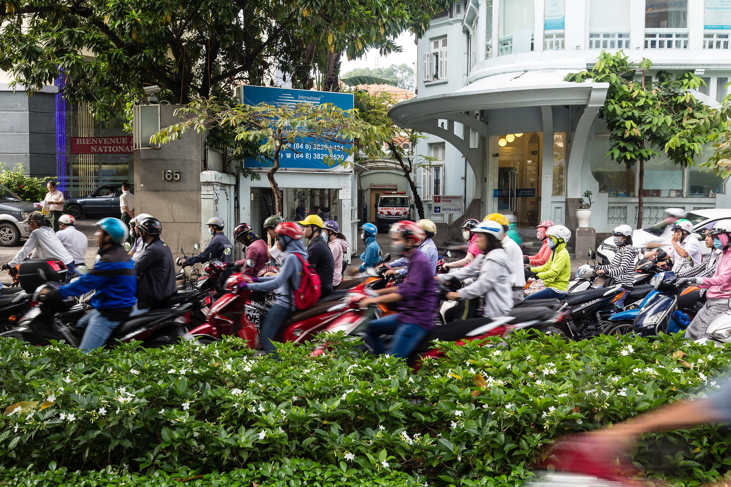The Saigon traffic...
