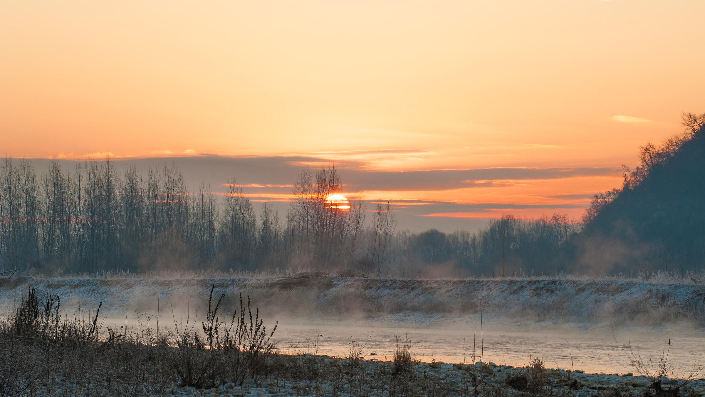 Sunrise on the Piave...