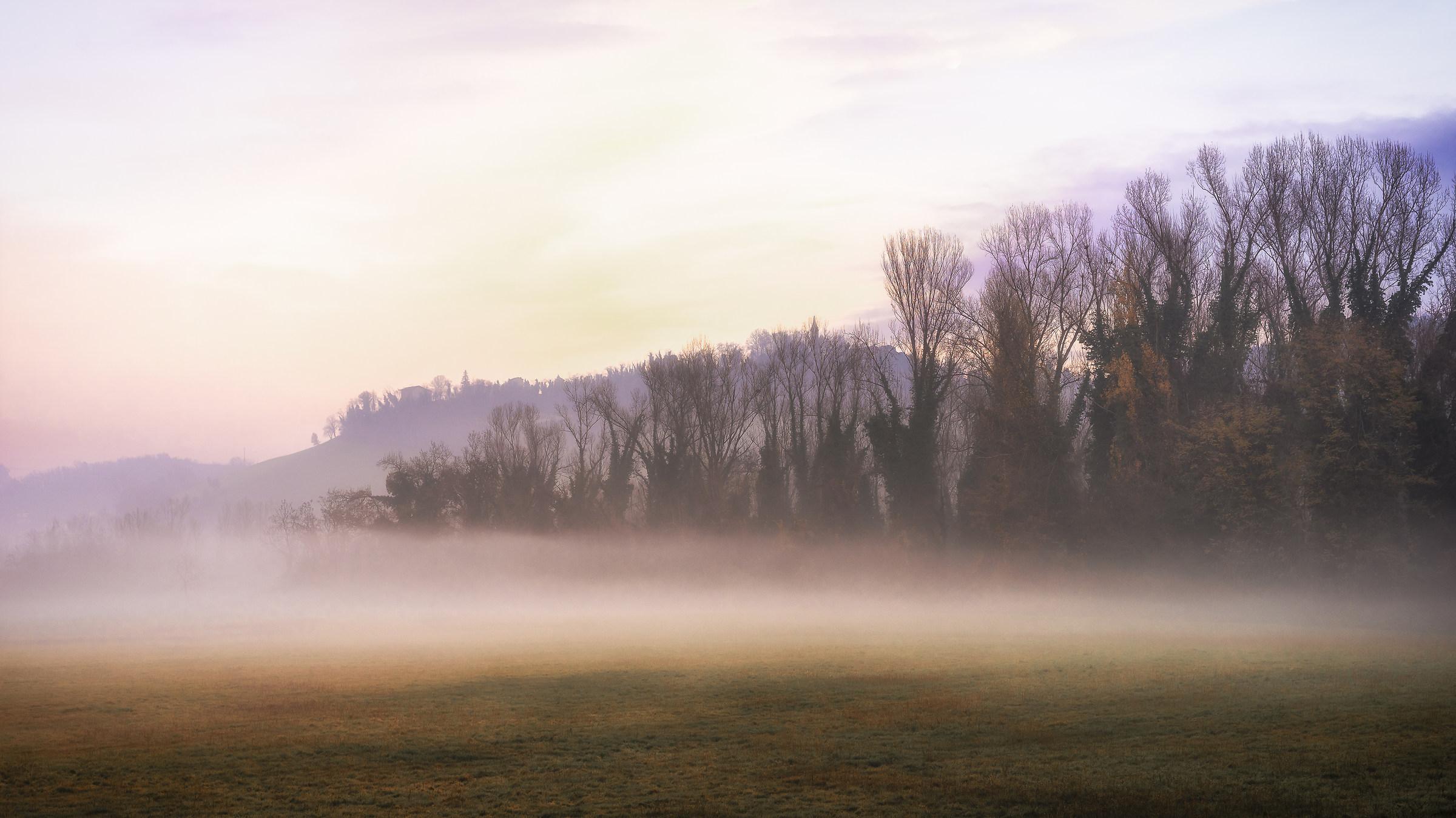 Mist on the hills around Bologna...