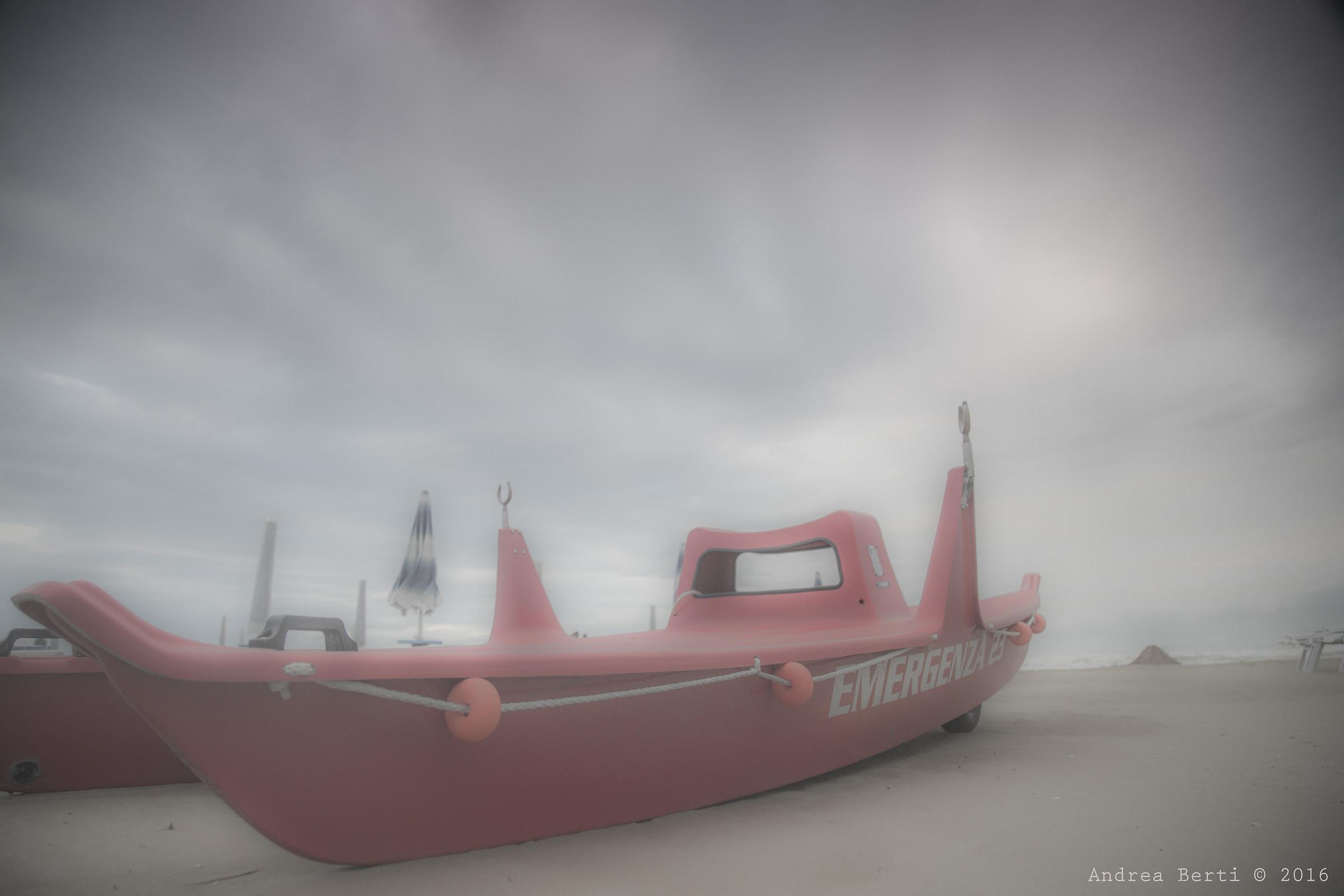 Rescue, beach in Rimini...