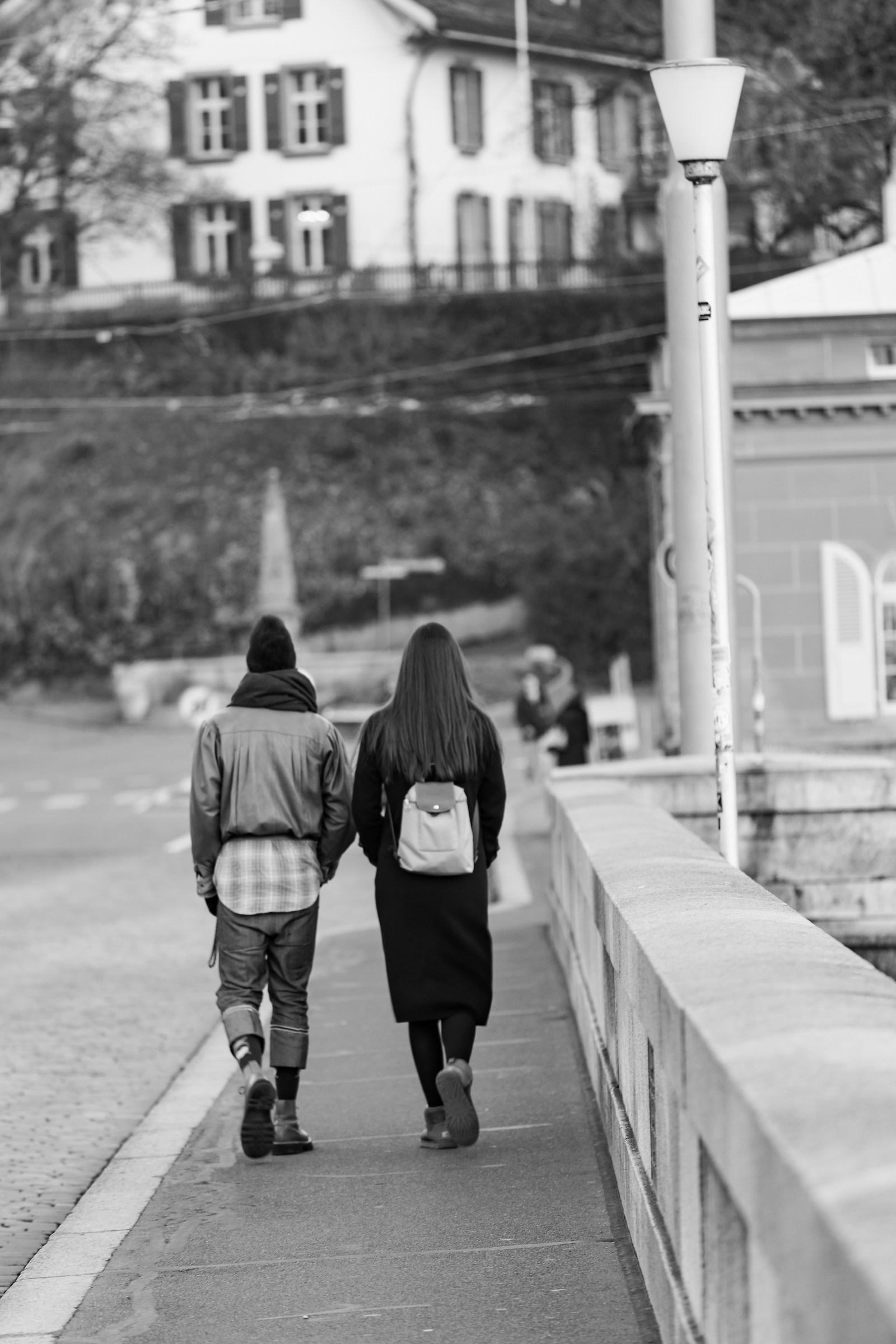 Walking around...