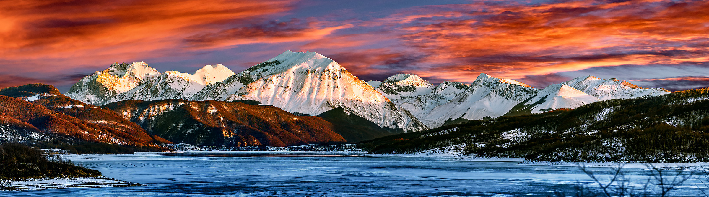 cold sunset...