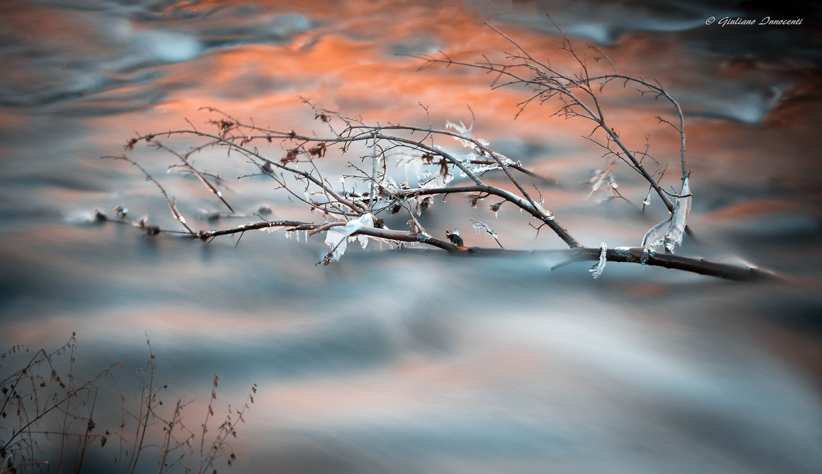 a frosty sunset...