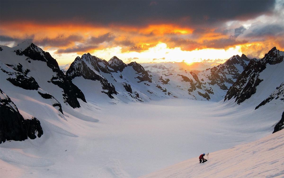Alba sul Glacier blanc | Barre des Ecrins (fra)...