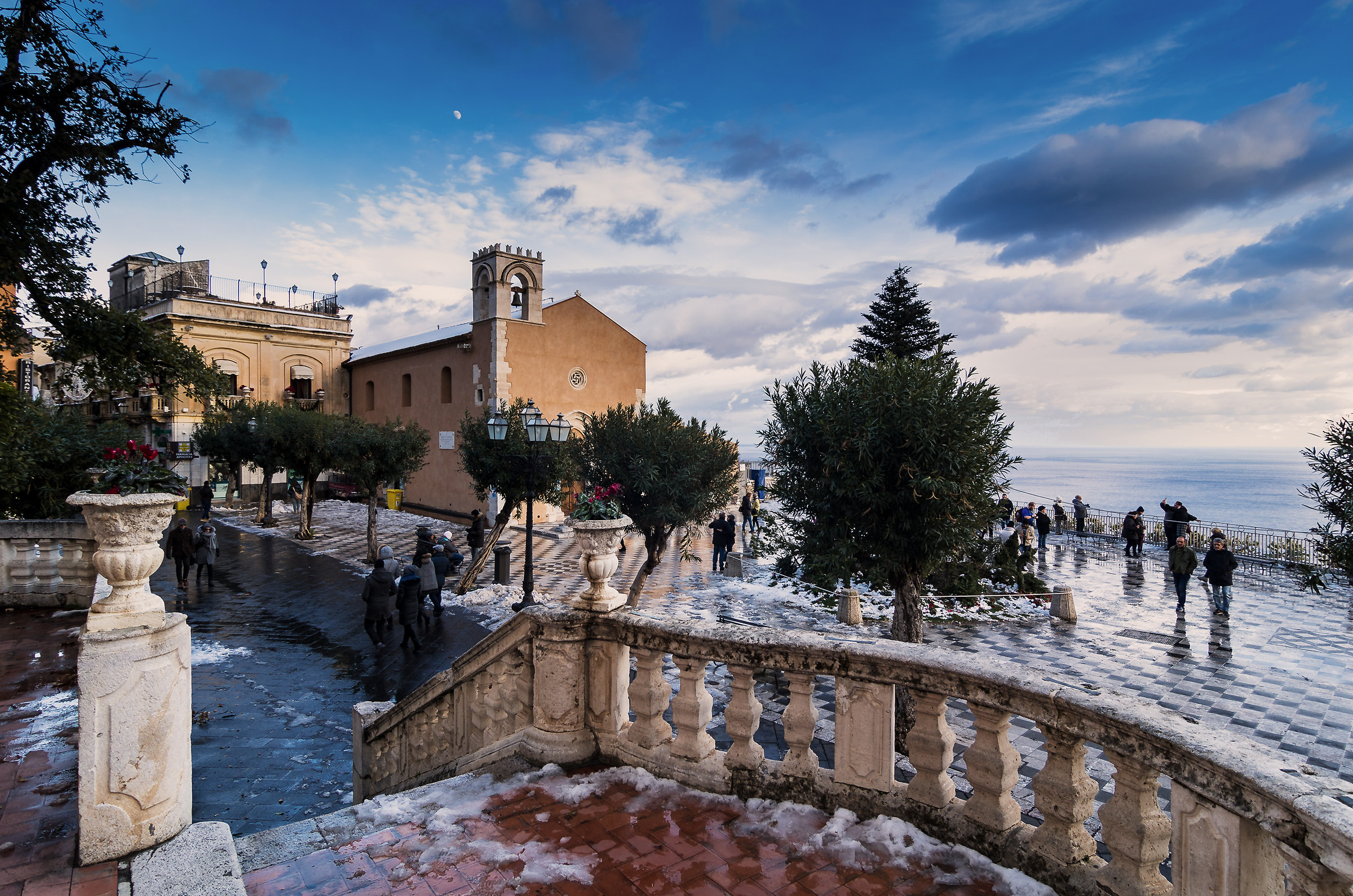 Taormina e la neve...