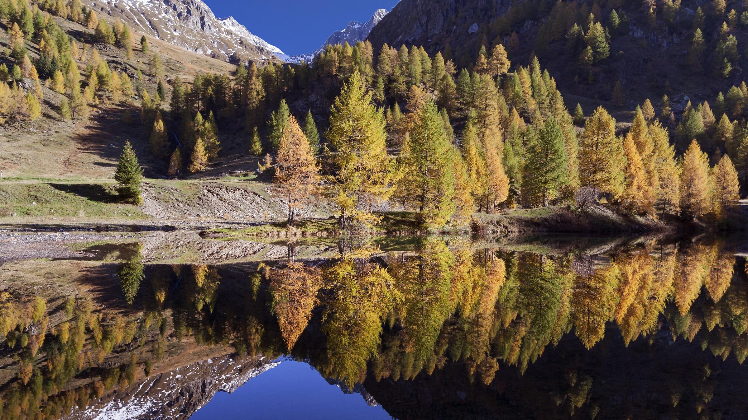 Autumn reflections ... lake cavasabbia...