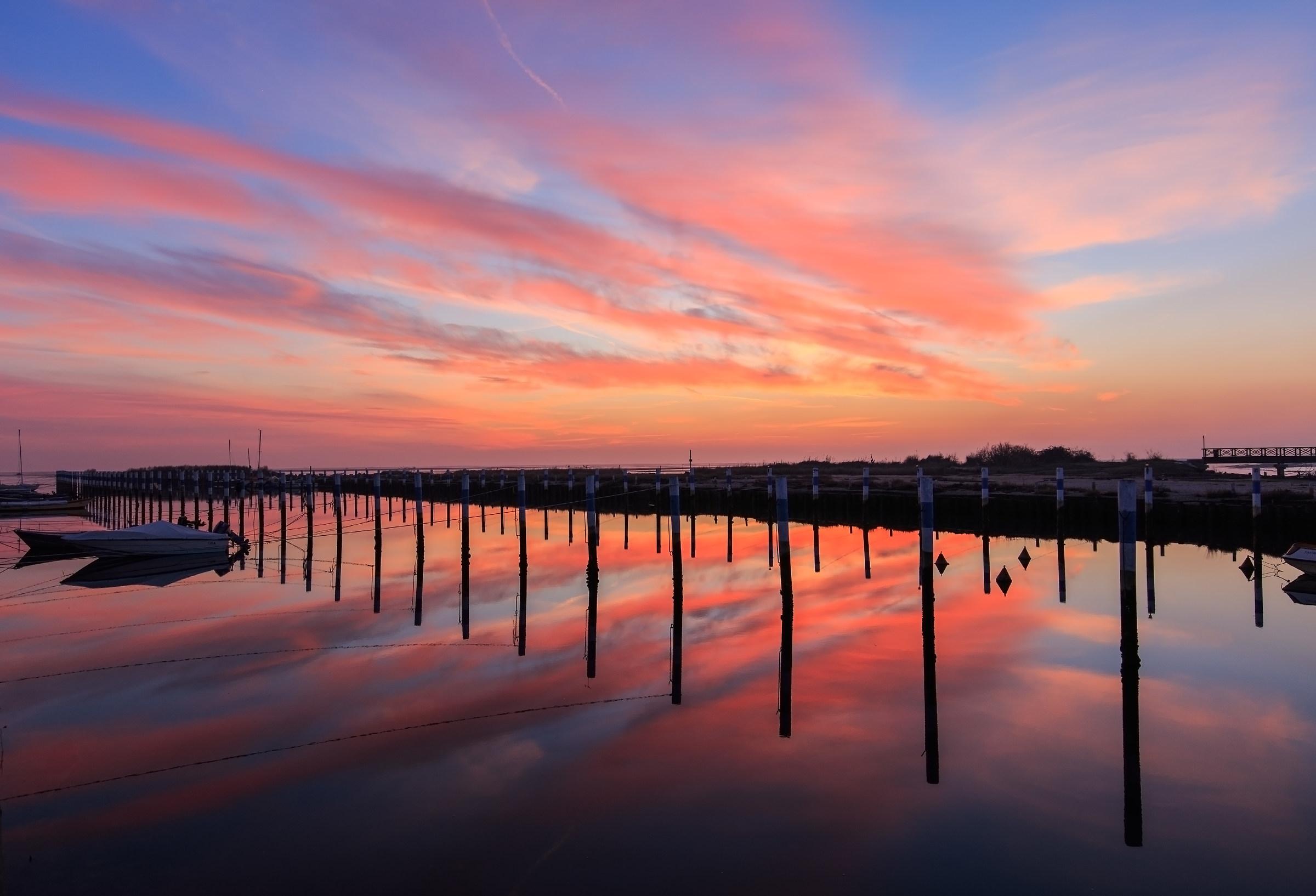 i bei tramonti che sa regalarci la laguna di Grado...
