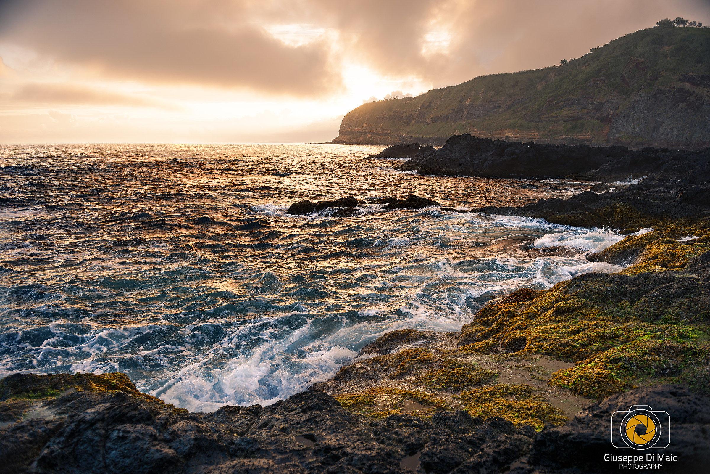 Tramonto sull'oceano Atlatico, Azzorre, Sau Miguel...