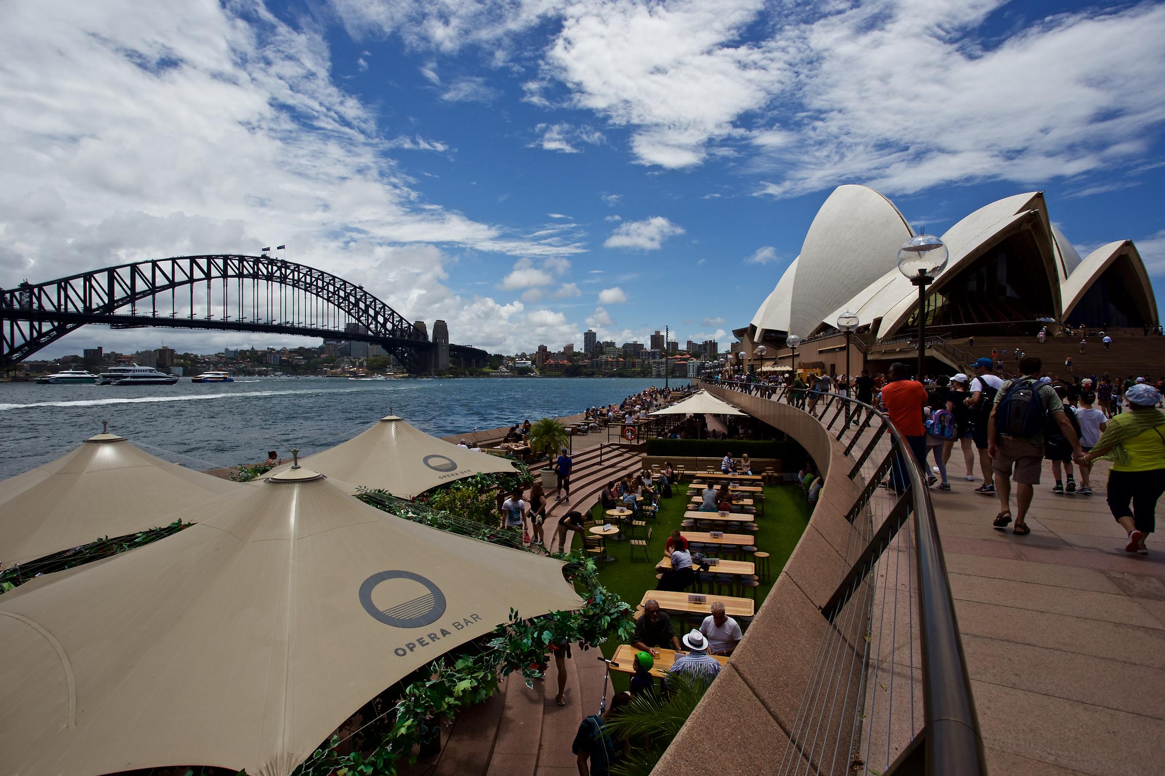 Sydney Harbour Bridge and Opera House...