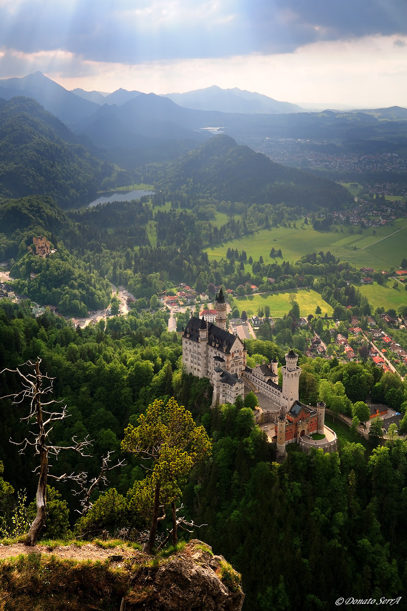 Neuschwanstein from Mount Tegelberg...