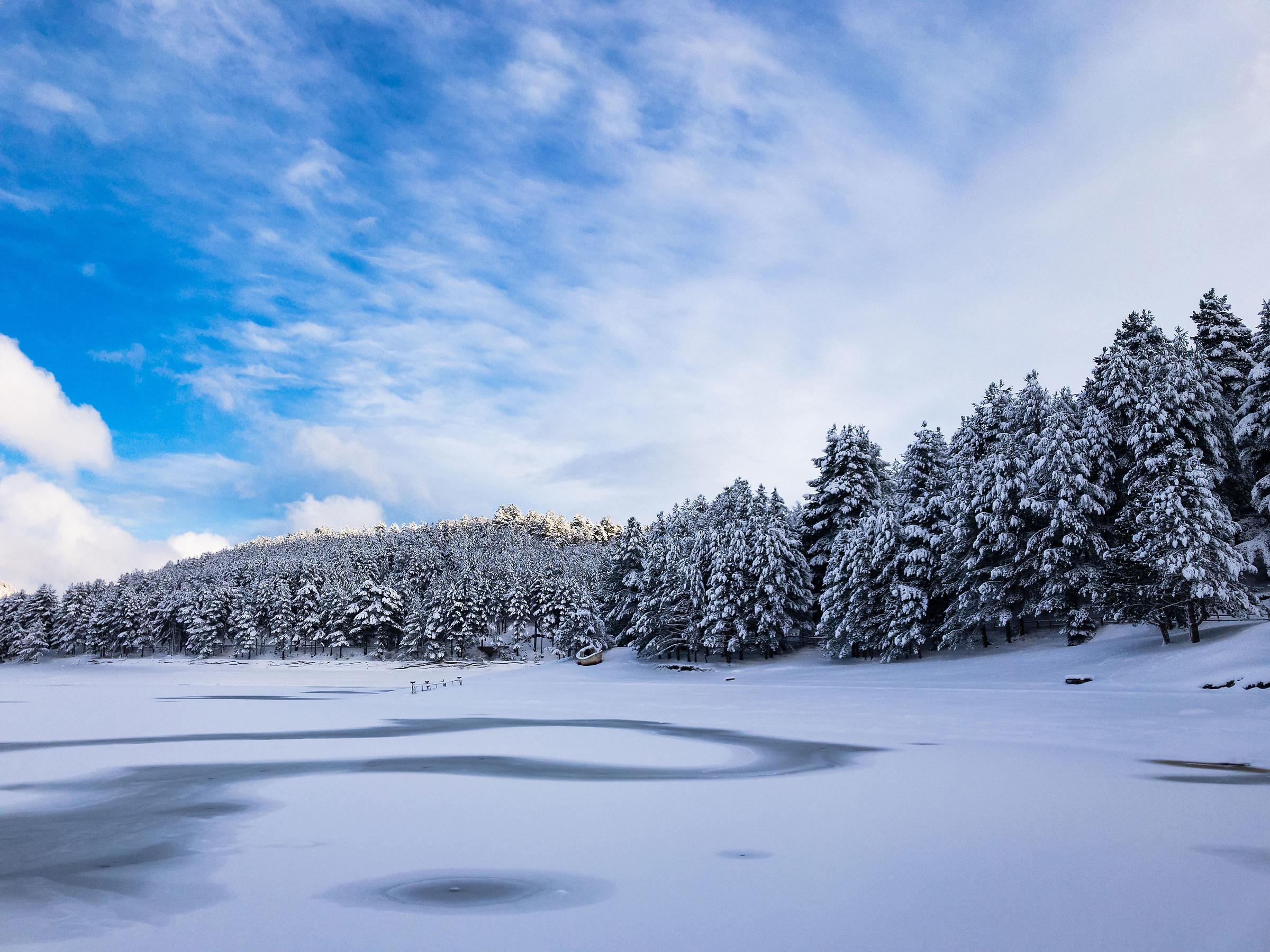 frozen lake...
