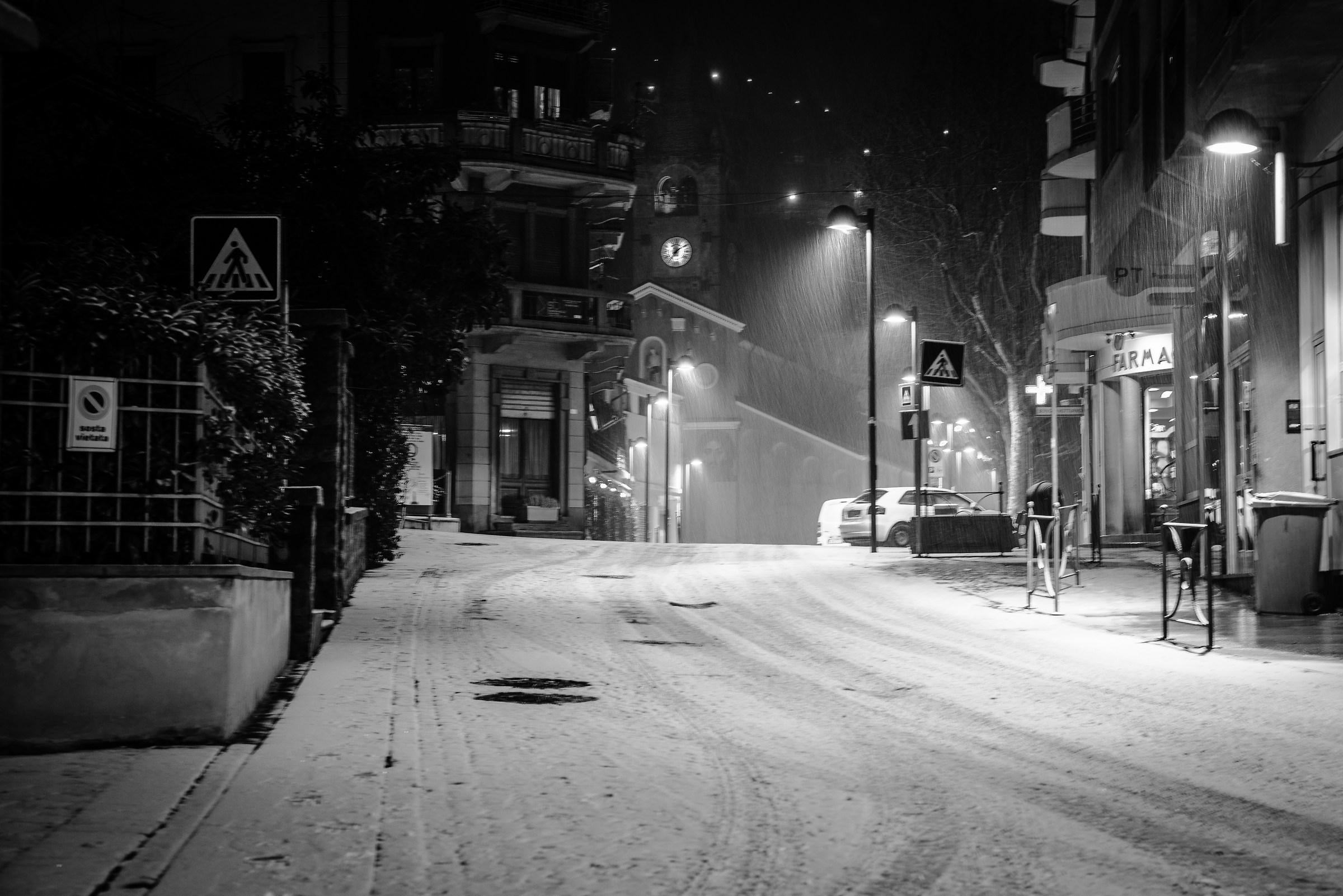 Saint Vincent, sotto la neve...