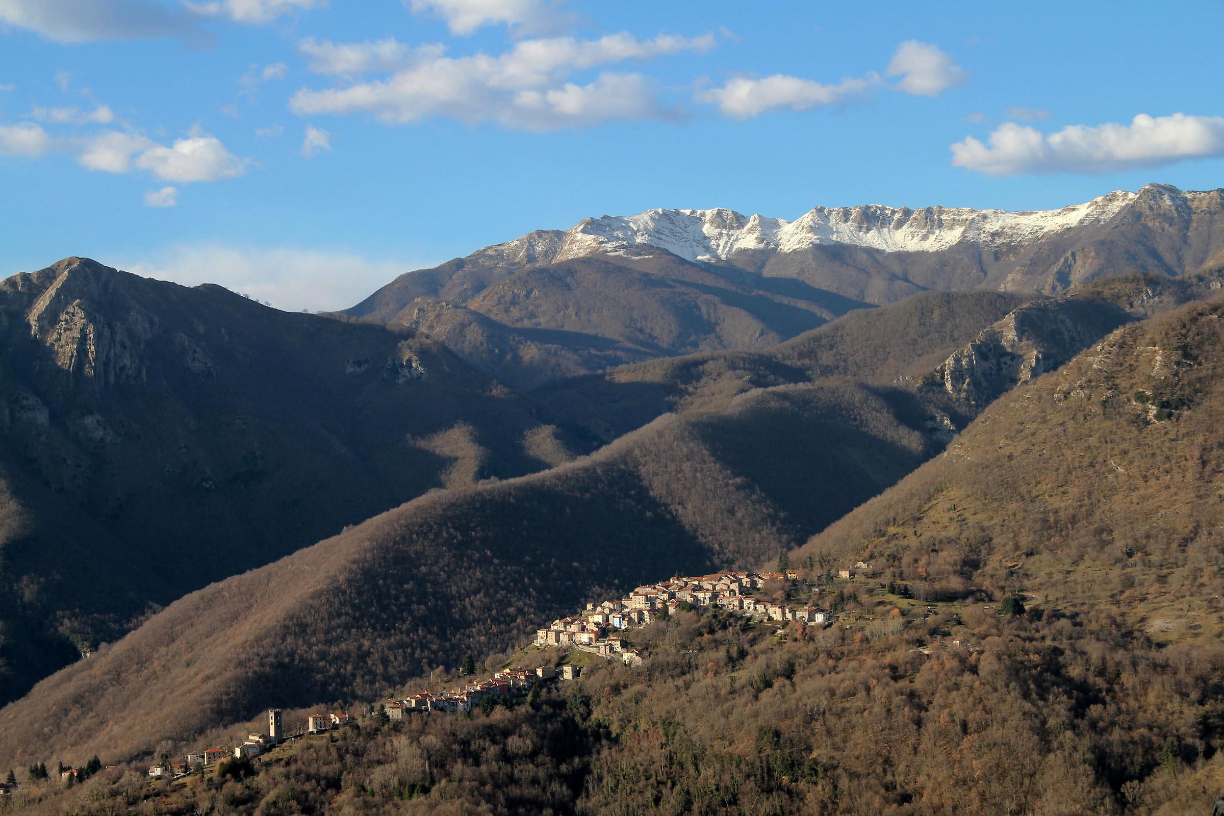 Vico Pancellorum seen from Rocca Lucchio...