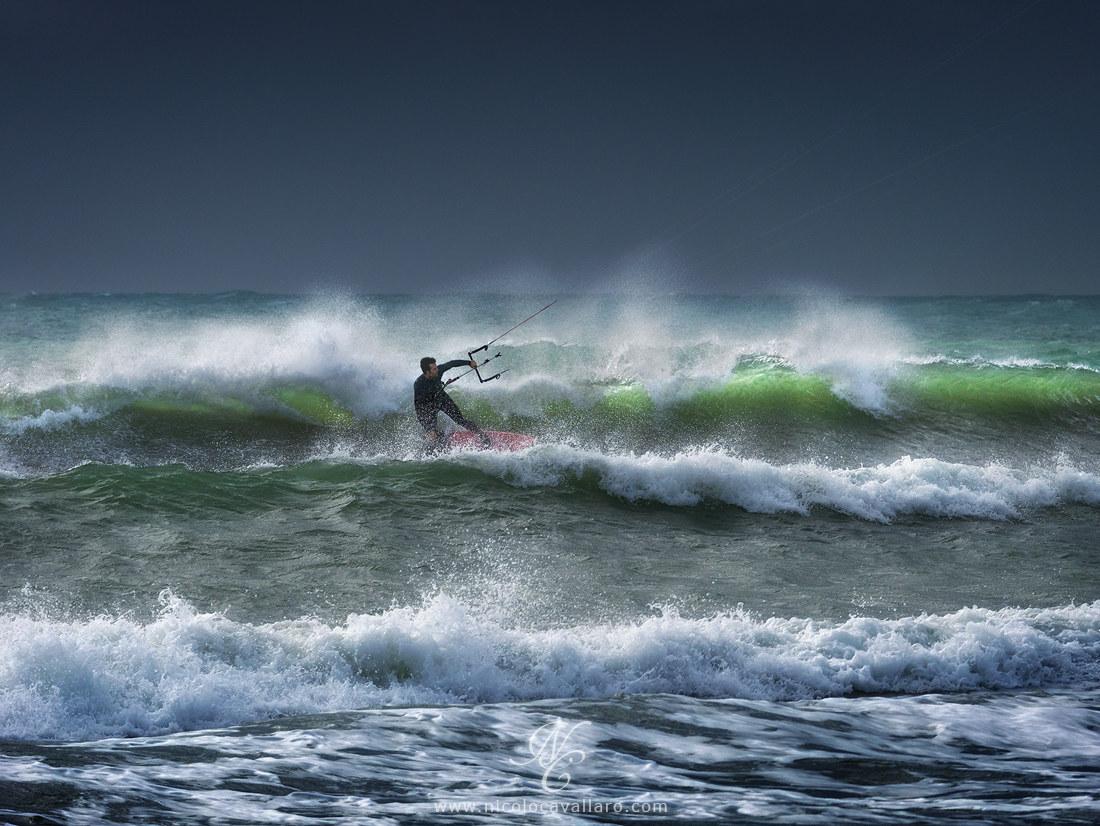 kitesurfing...