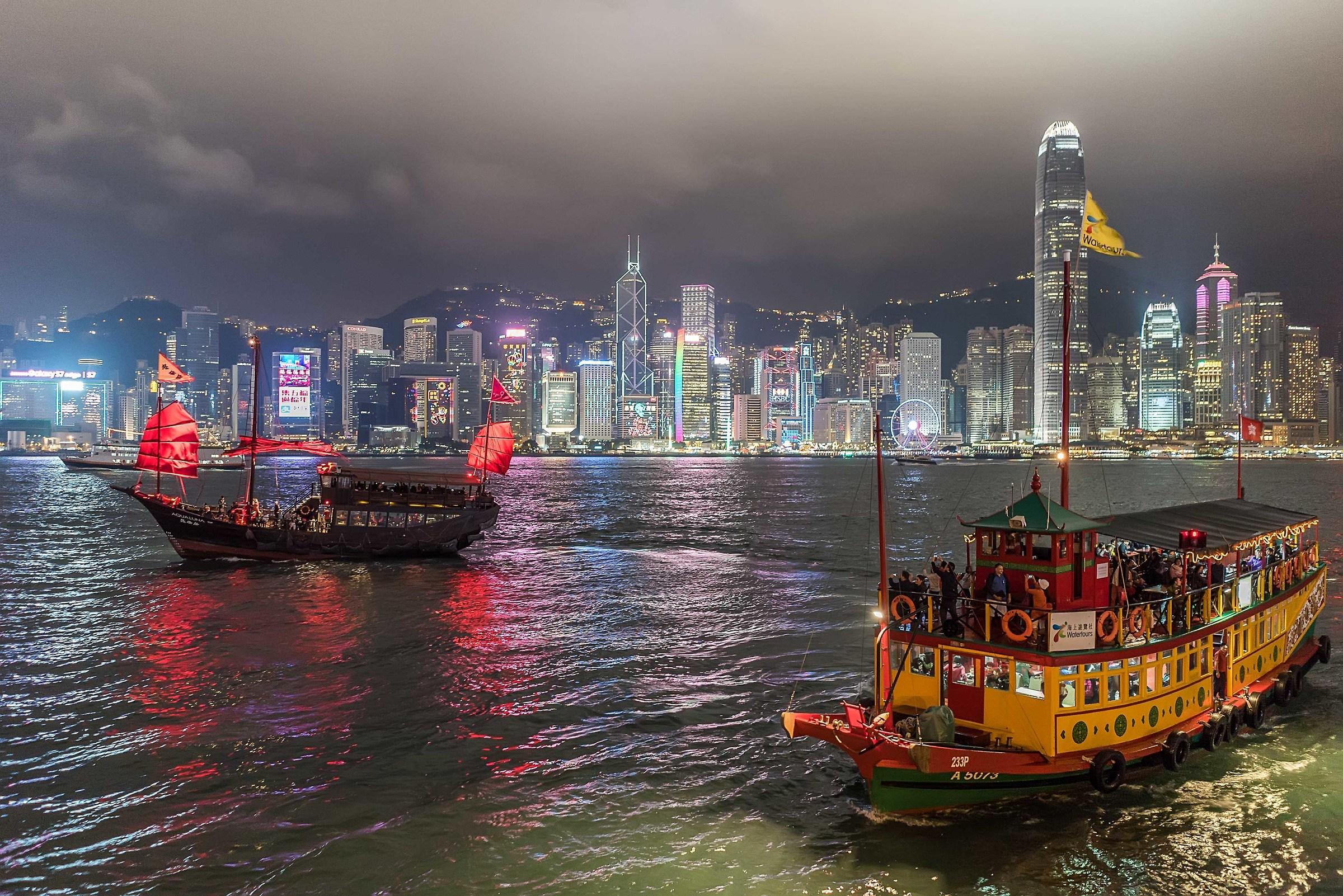 Hong Kong, boats...