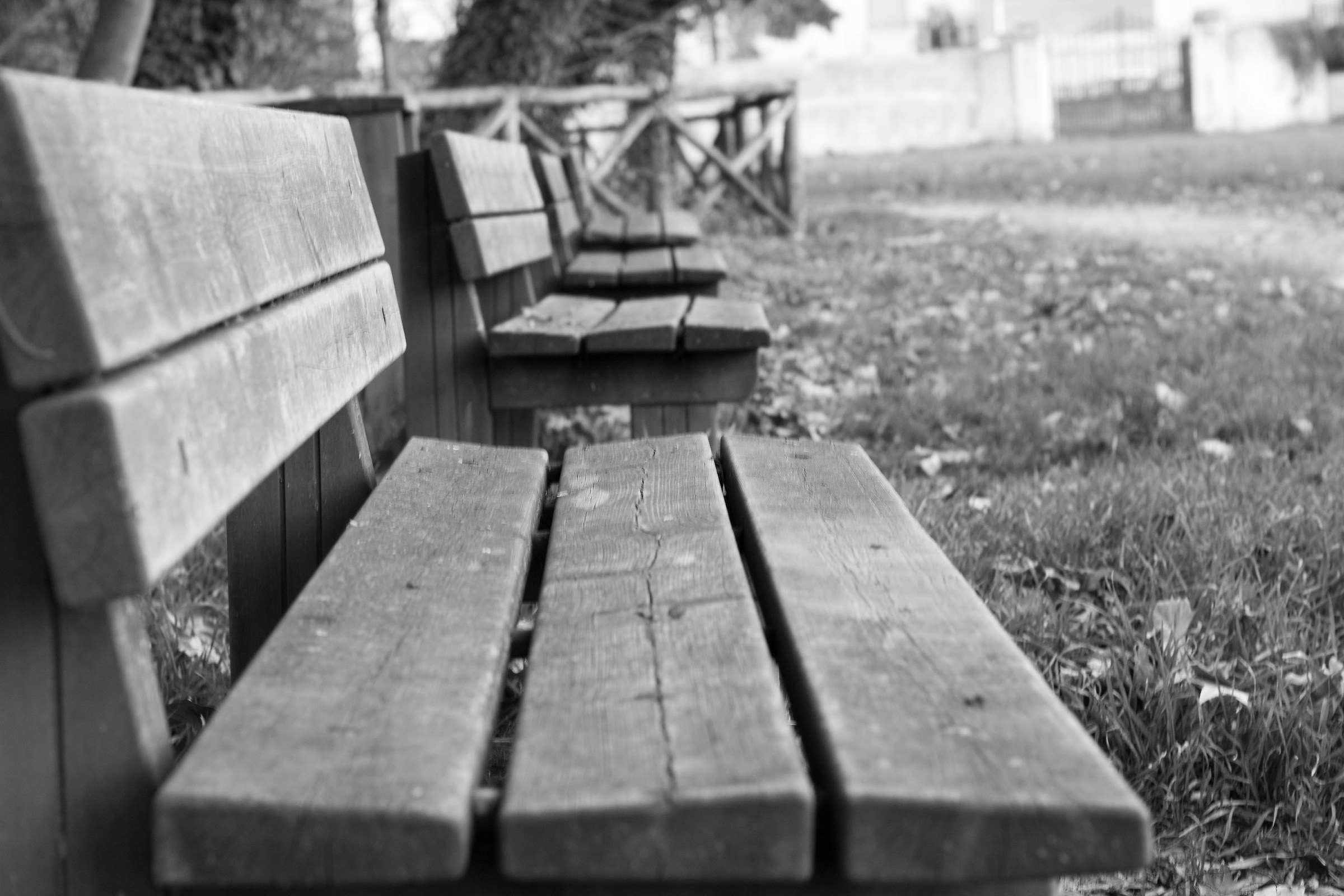 nearby benches...