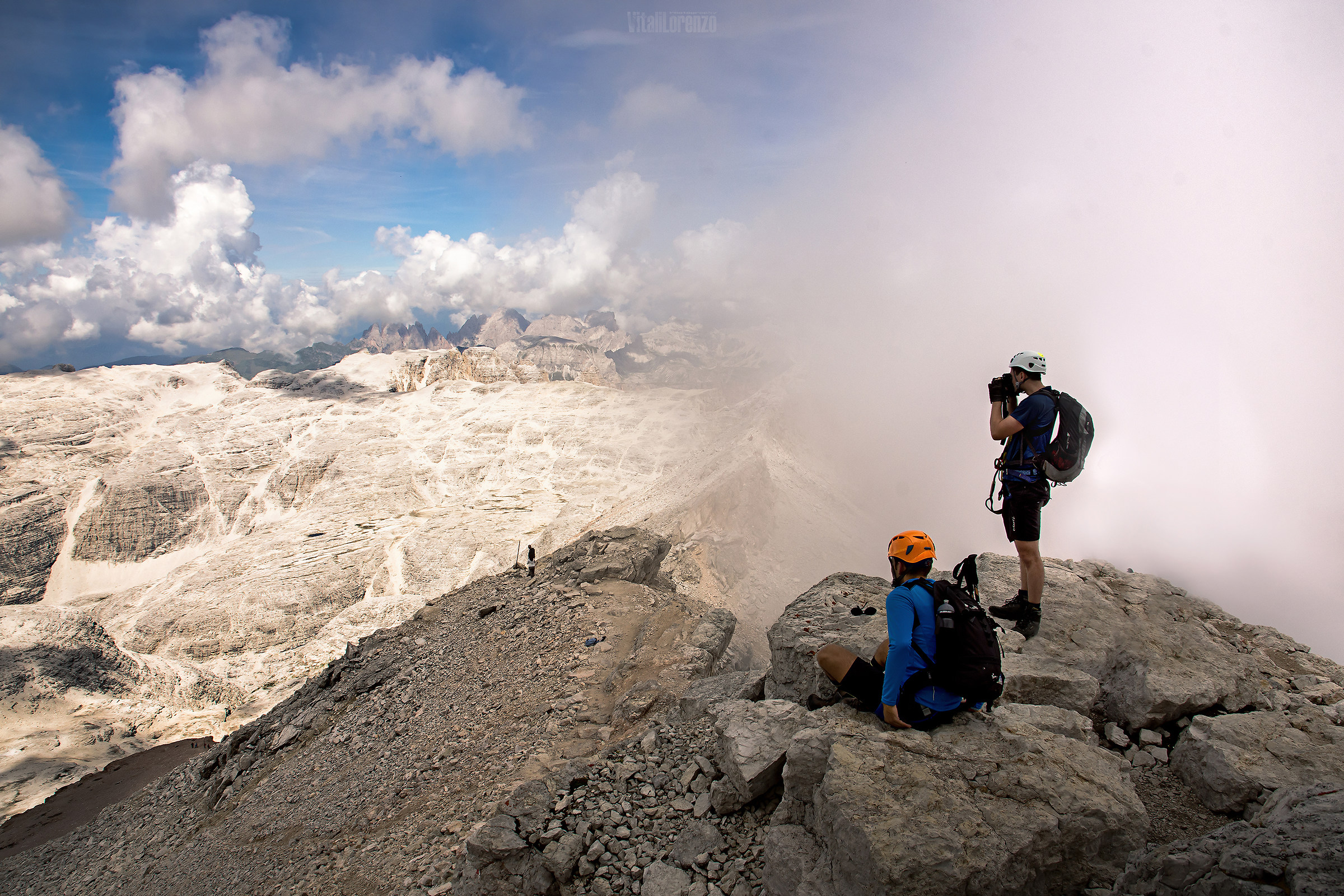 The summit of Piz Boè...