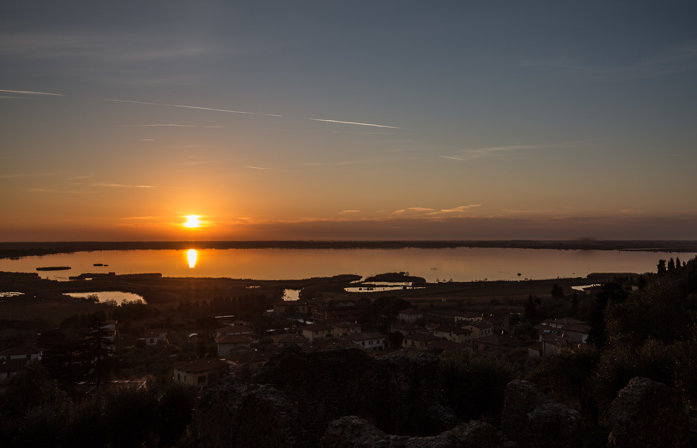 caldo tramonto all'oasi massacciuoli...