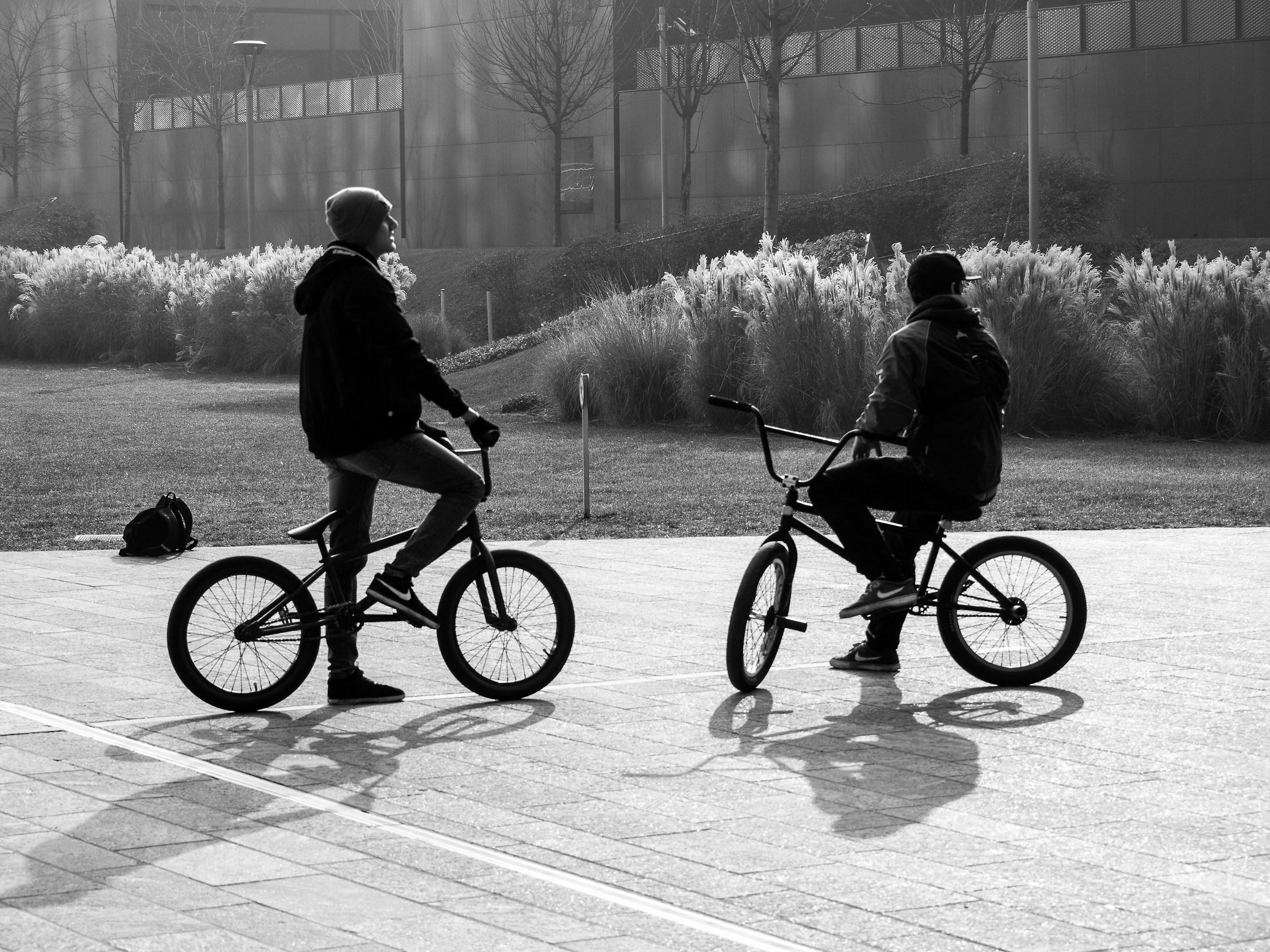 acrobatic bicycle...