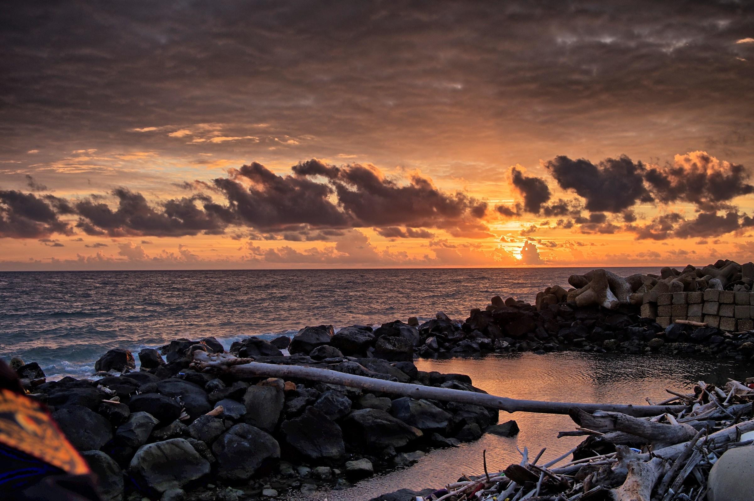 sunset near lighthouse...
