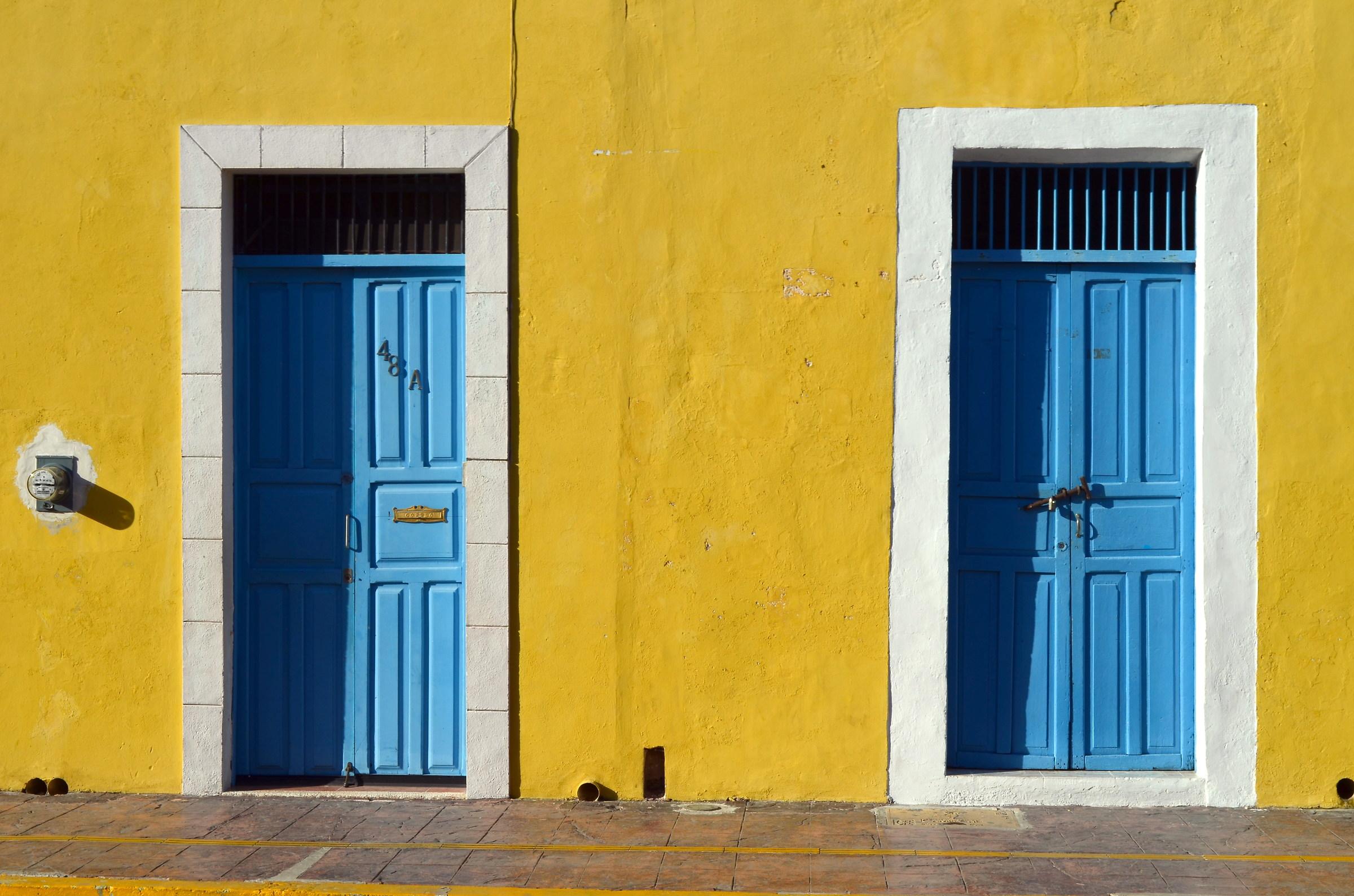 Doors in Campeche...