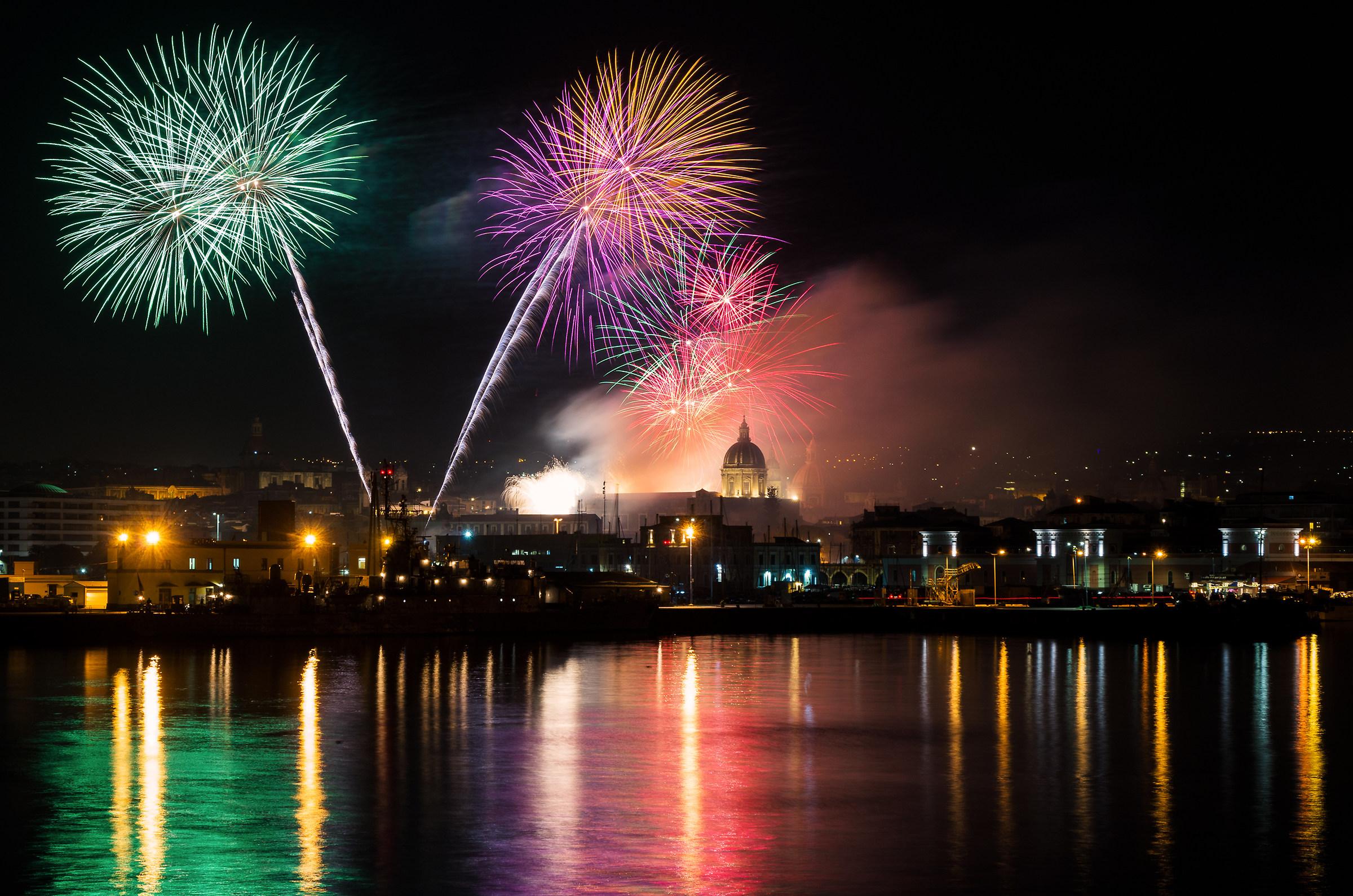 Fuochi del tre febbraio - Sant'Agata - Catania #1...