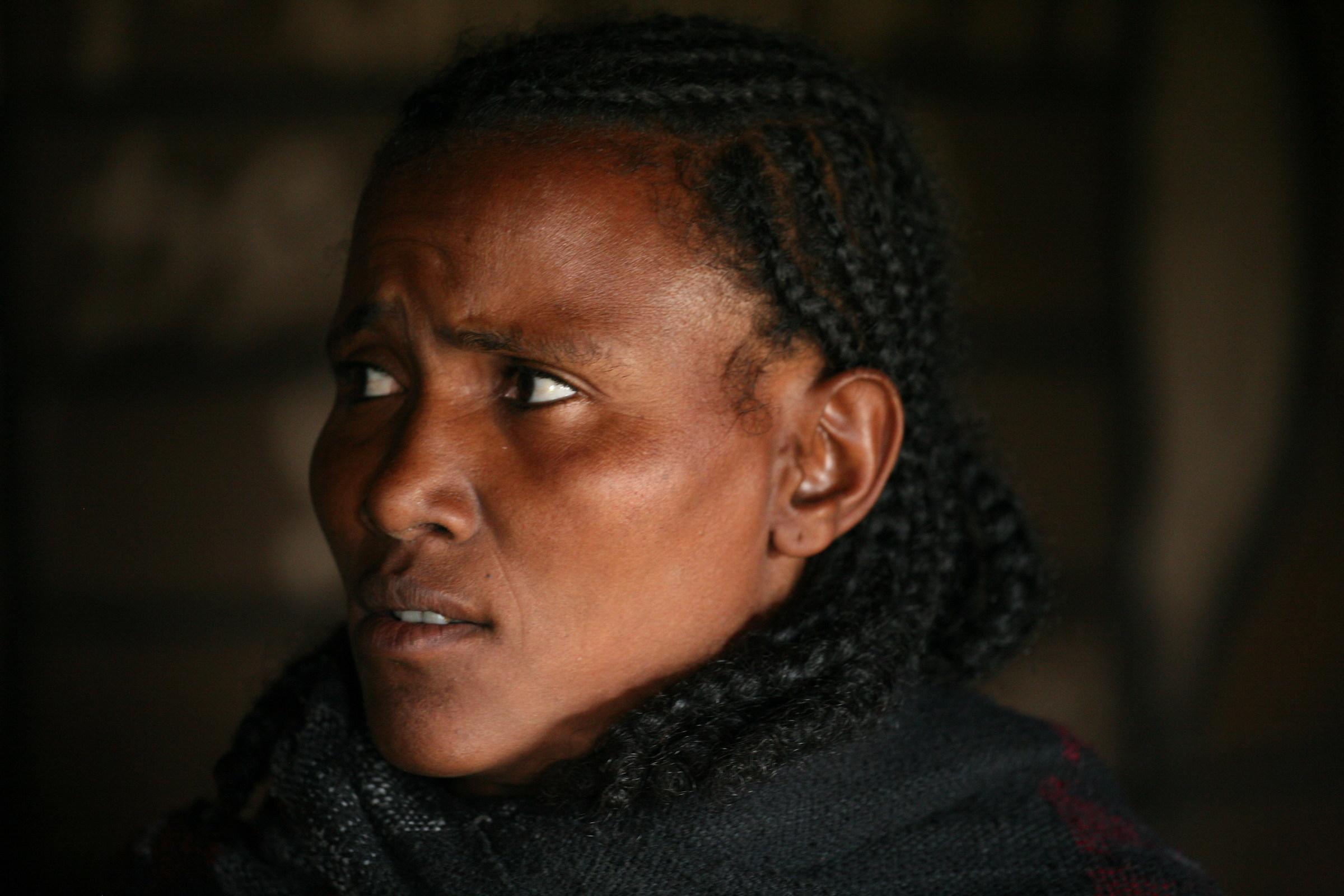 Ethiopian woman...