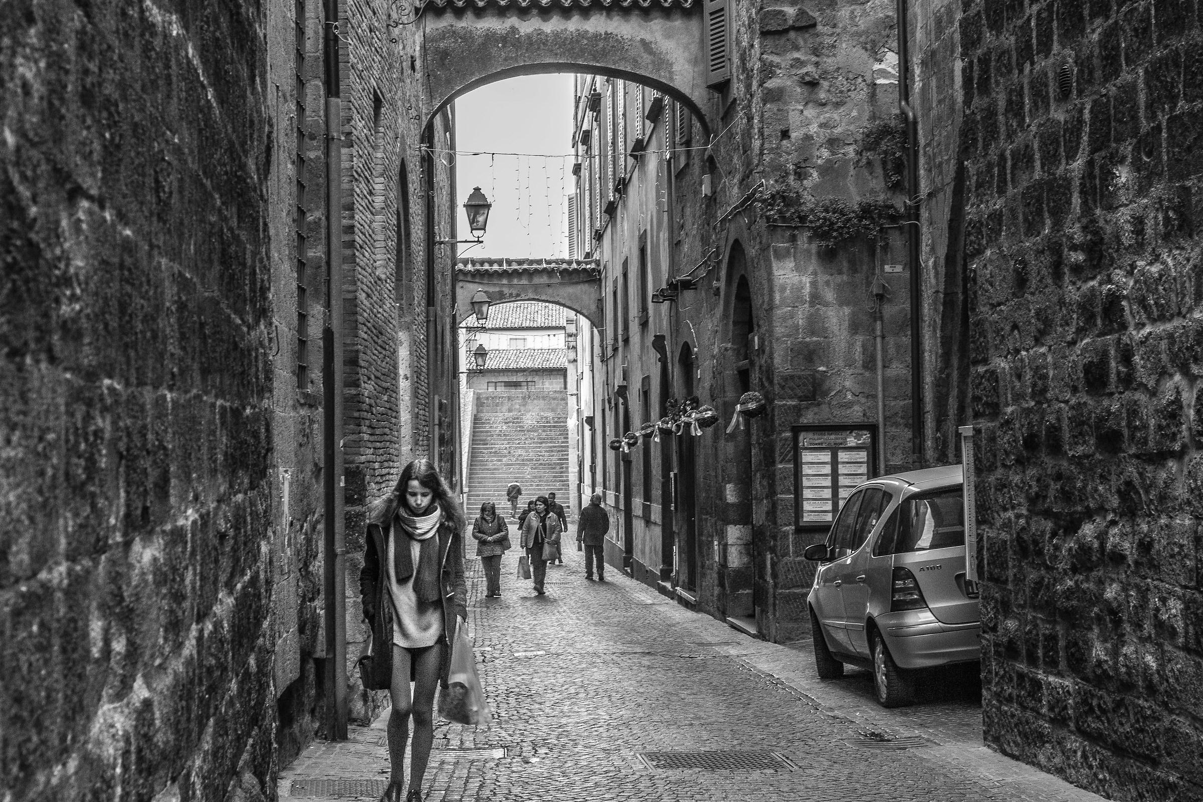 Walking around Orvieto...