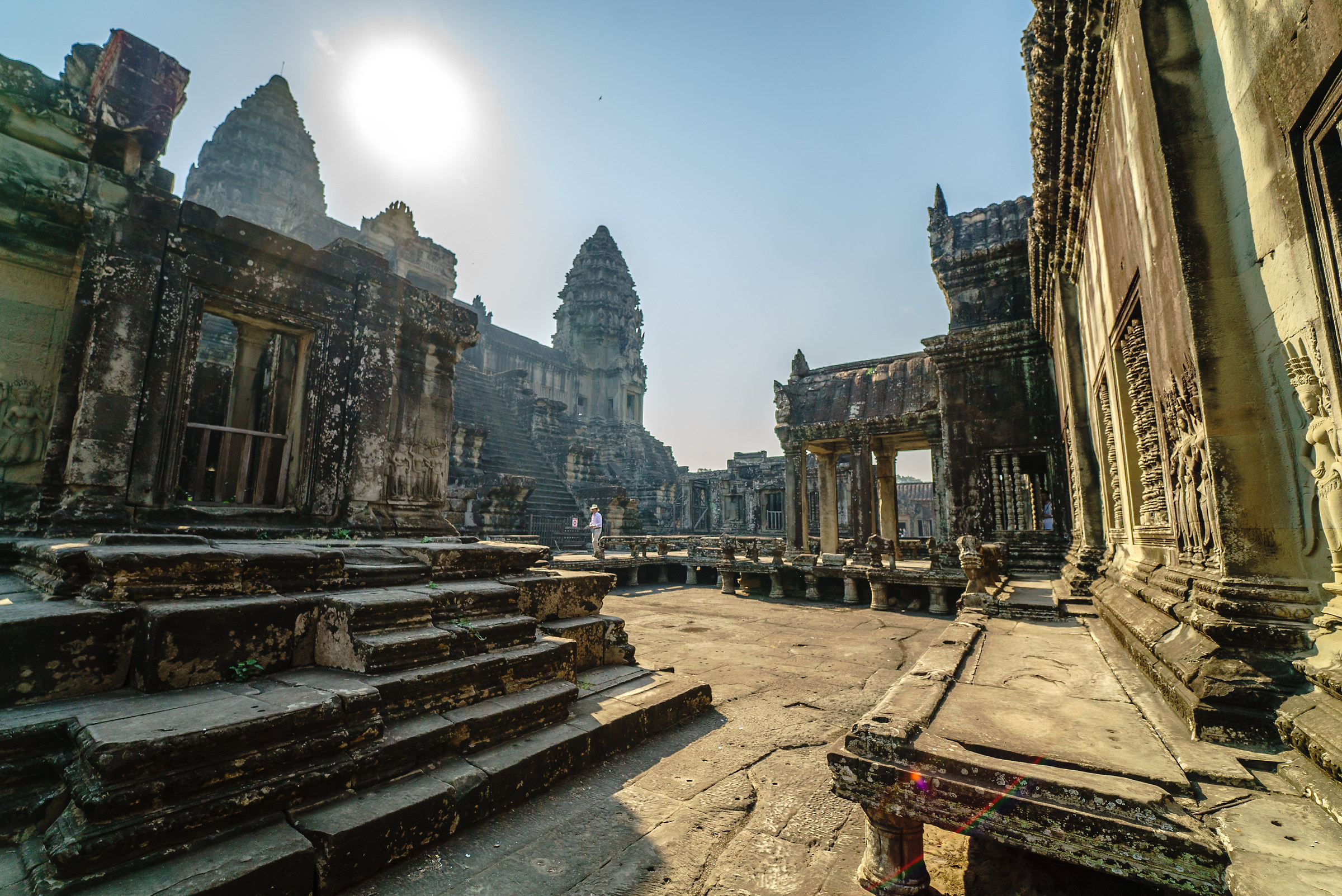 Inside the Angkor Wat...