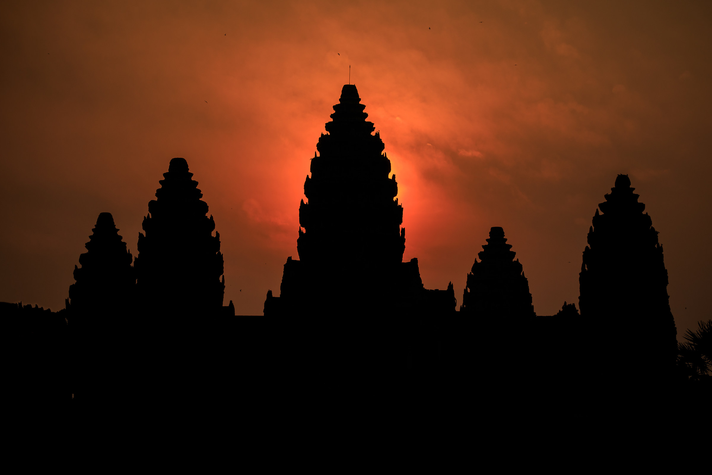 The Sun behind Angkor Wat...