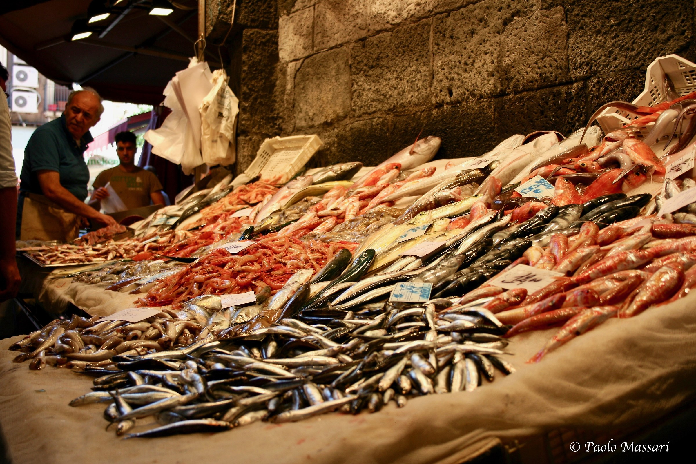 ............. fresh fish market in Catania...
