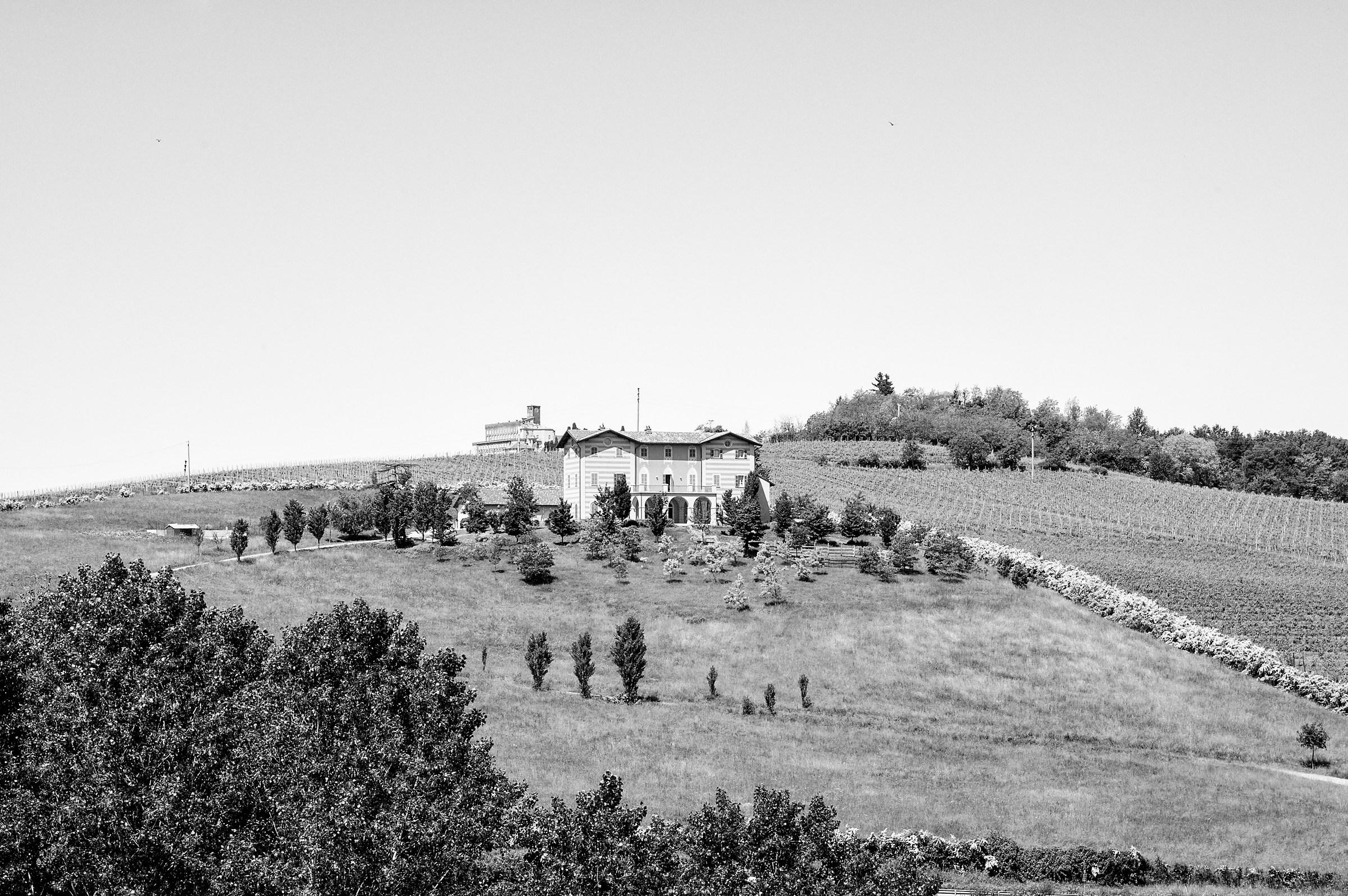 Hills of Monferrato B & W...