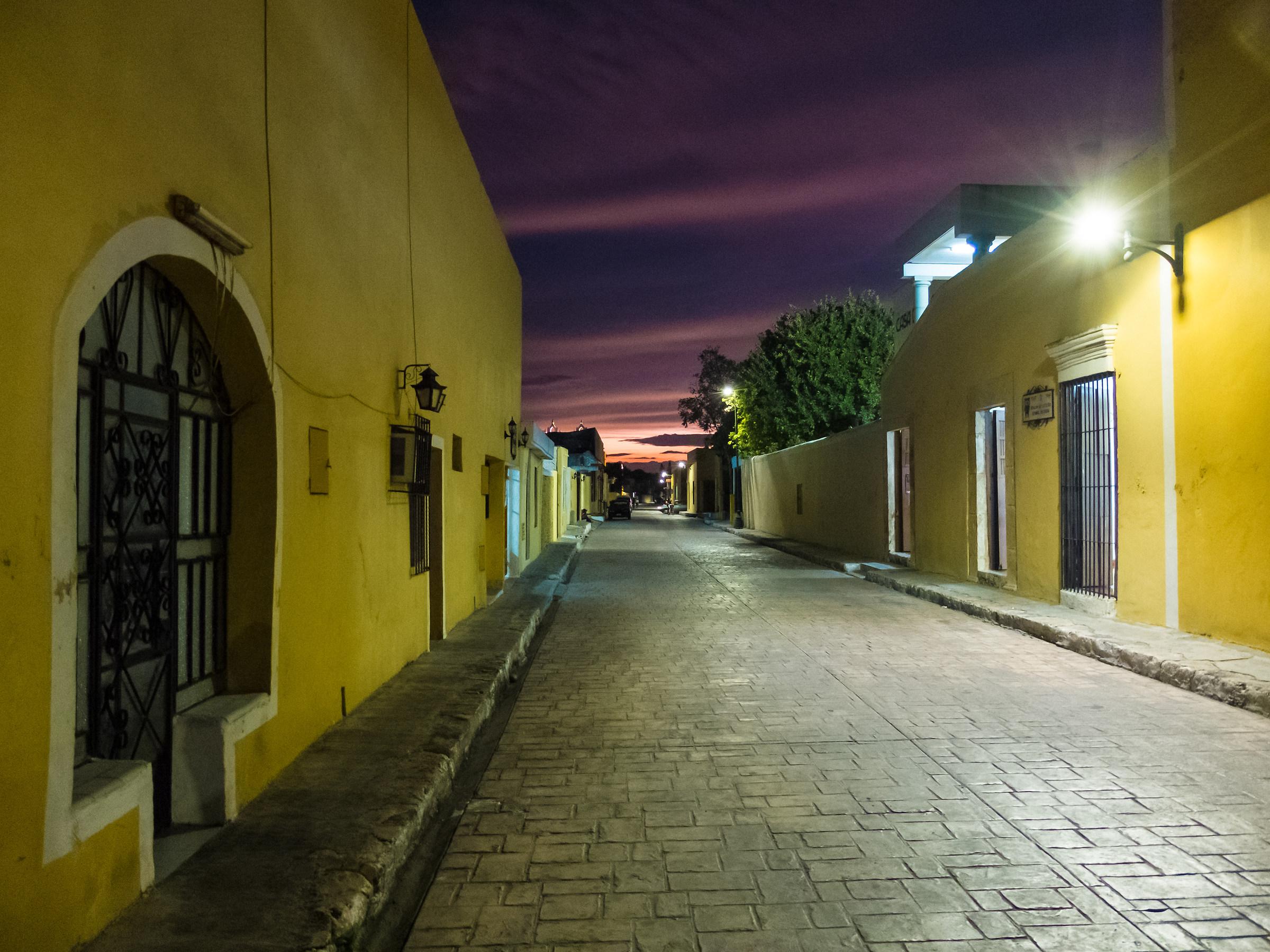 Sunset on the streets of Izamal...
