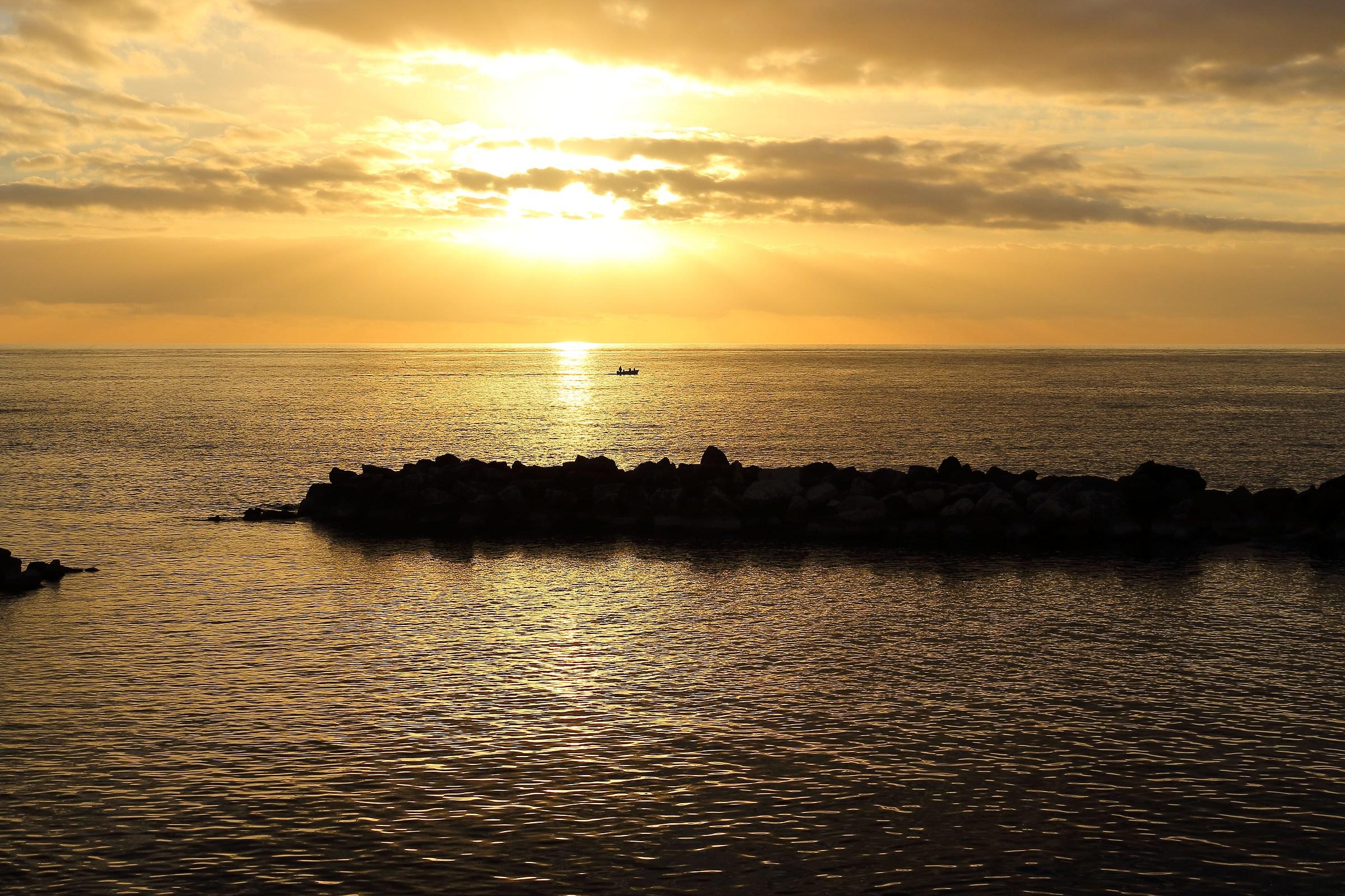 Navigando nel tramonto...