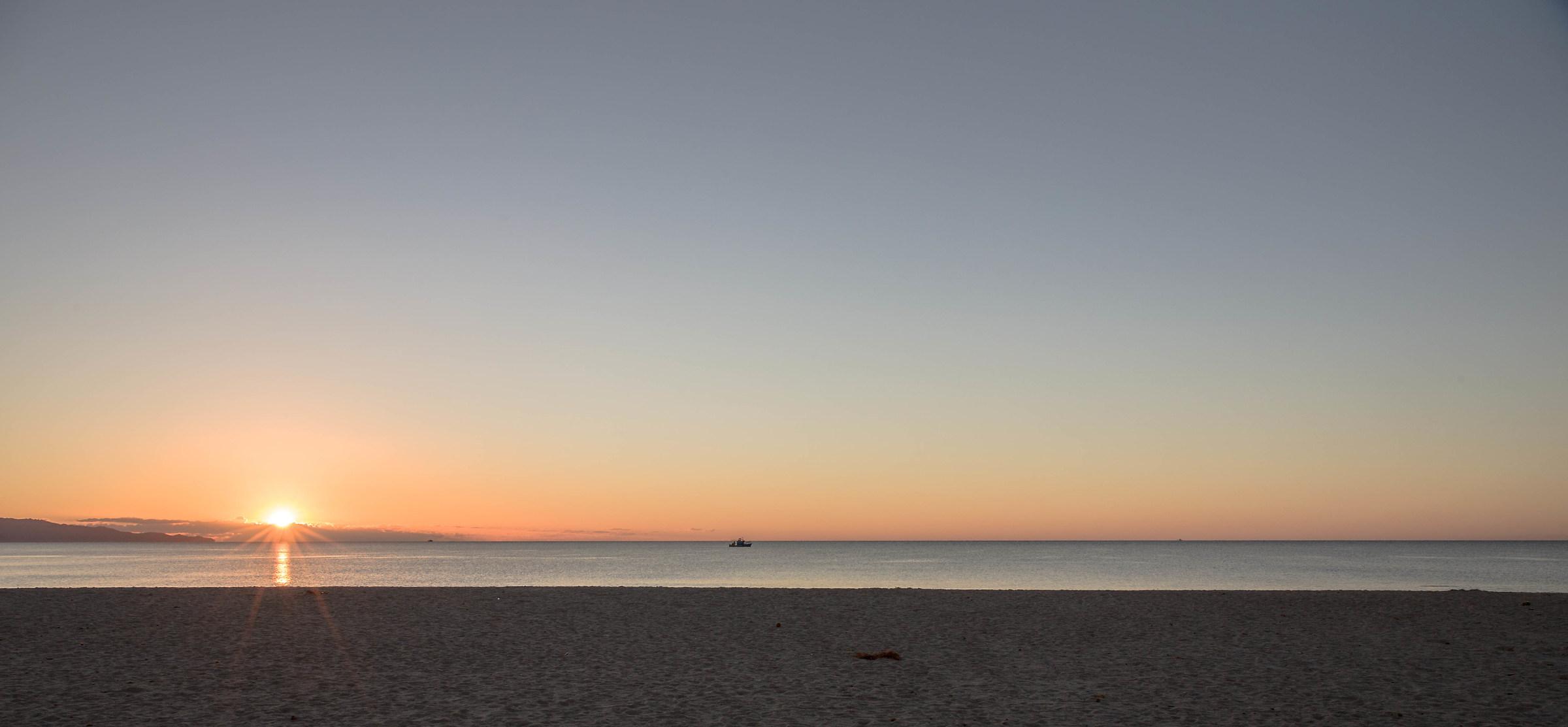 sunrise to poetto...