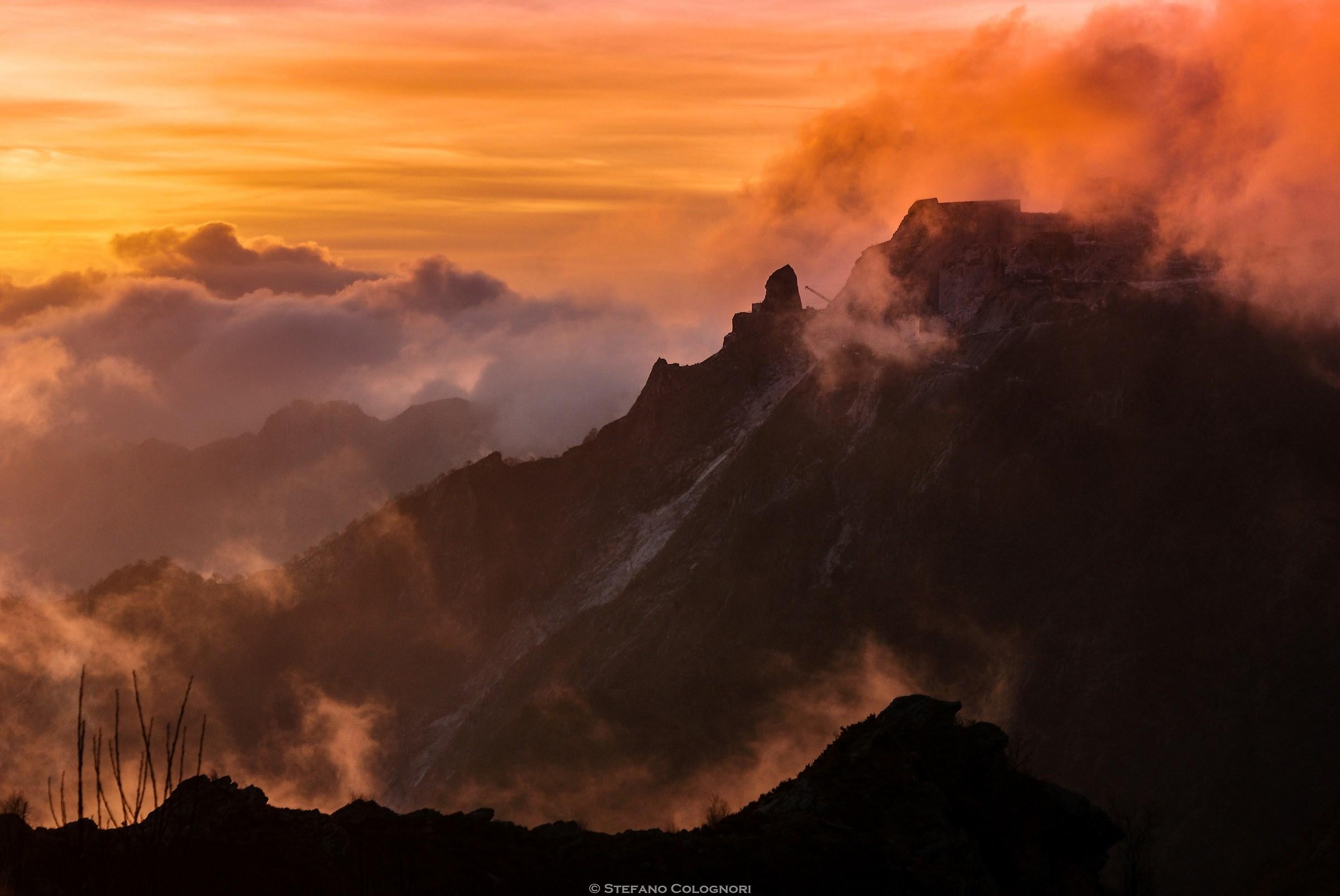La montagna infuocata...