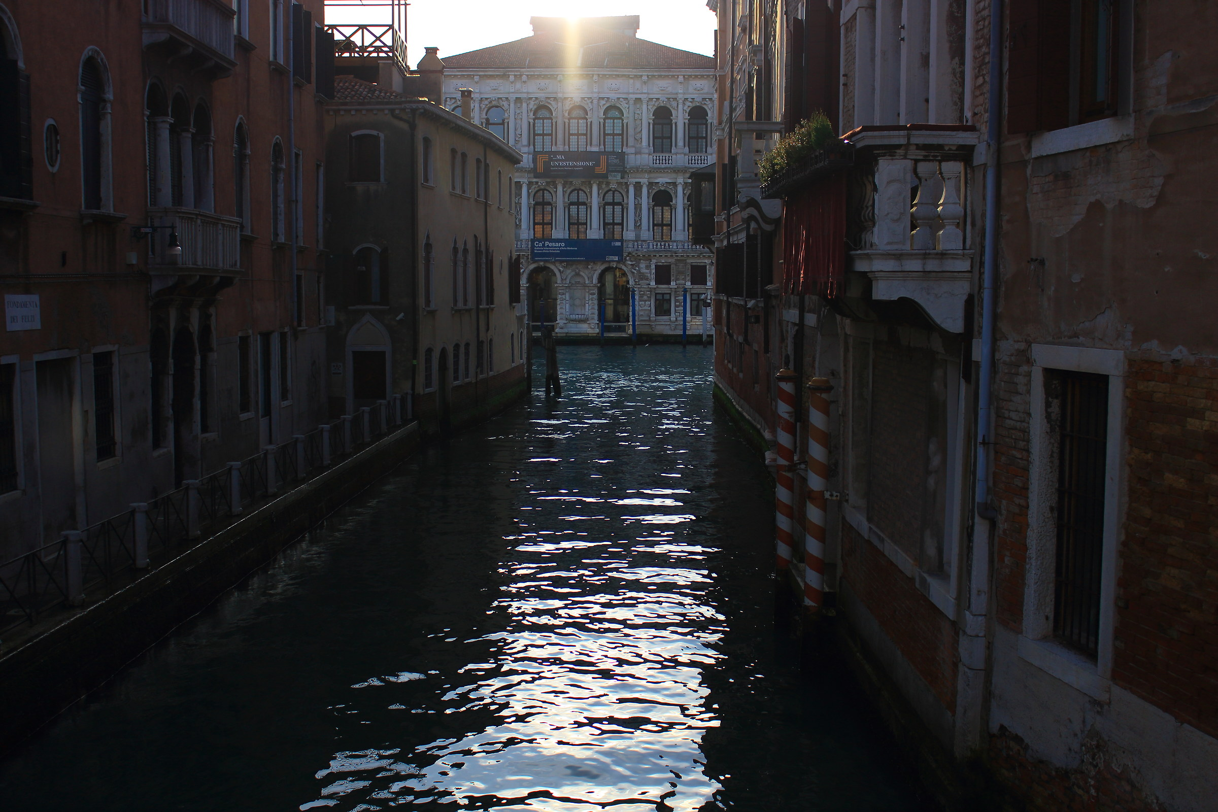 in the streets of Venice...