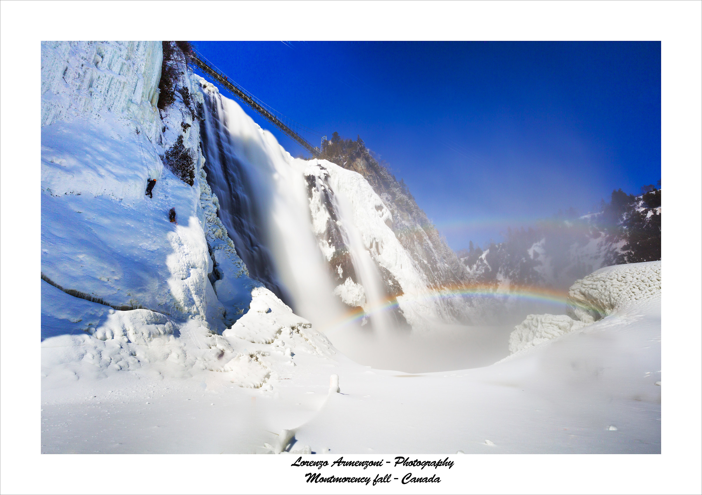 Montmorency fall Quebec...