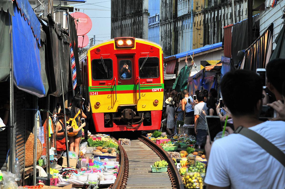treno al mercato...